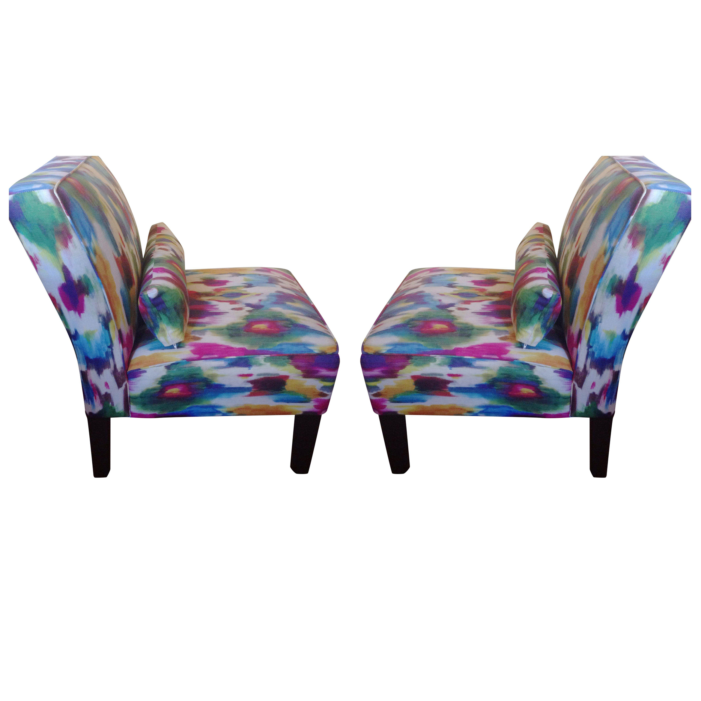 Multi Colored Accent Chairs A Pair Chairish