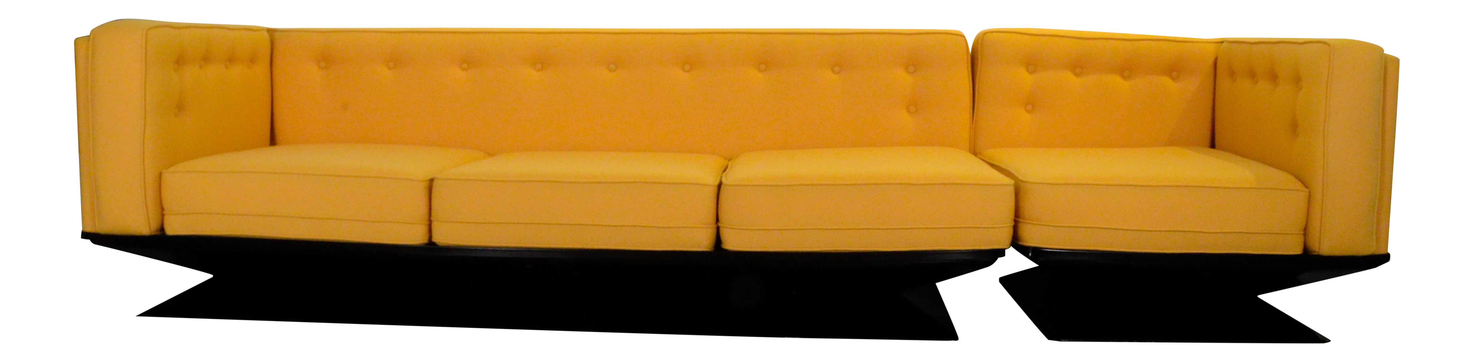 Distinguished Upholstered in a New Yellow Knoll Wool MIM Roma Ico
