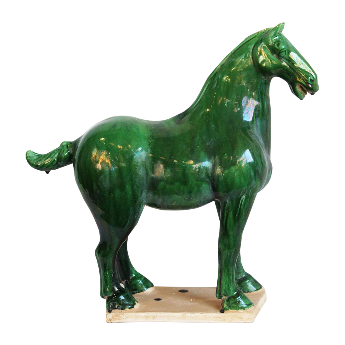 Green Ceramic Ming Horse Chairish
