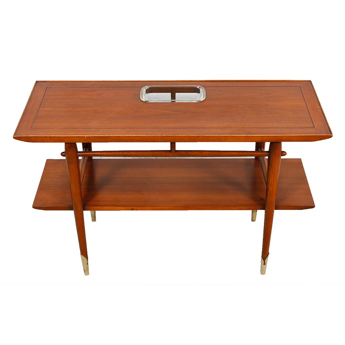 Mid Century Modern Console Table: Mid-Century Modern Console With Shelf