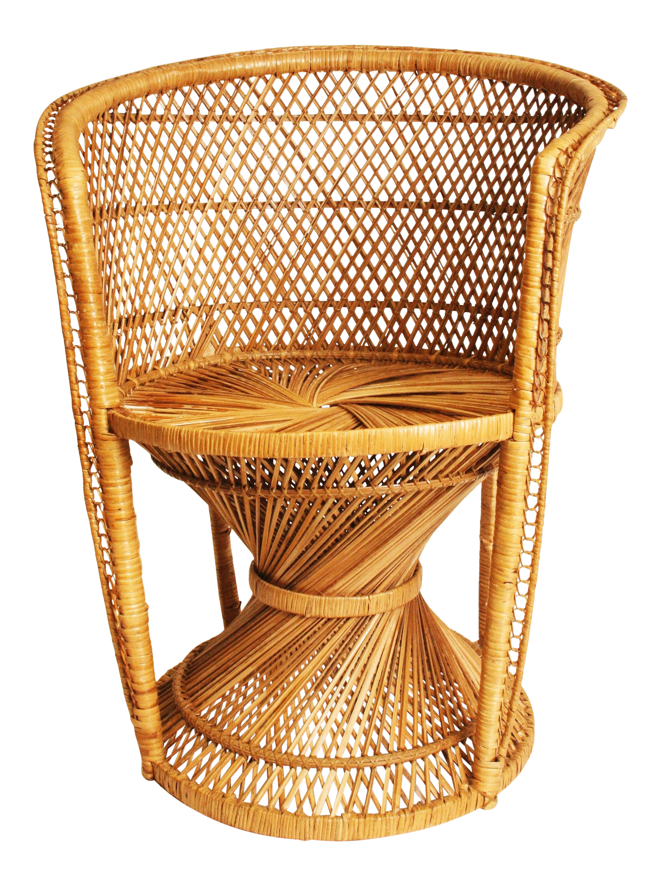 Vintage Wicker Bohemian Peacock Chair Chairish