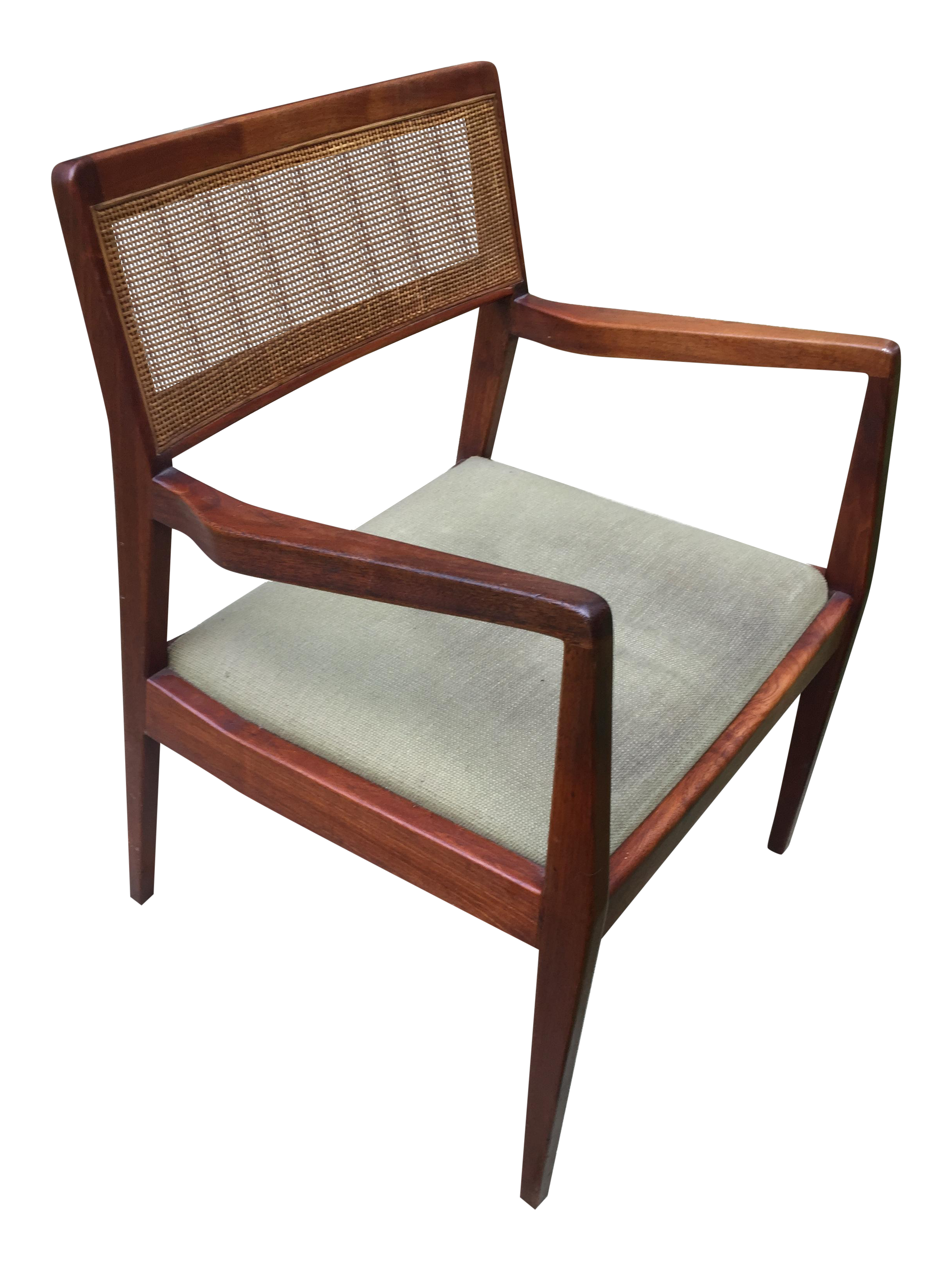 Jens Risom C140 Playboy Cane Back Arm Chair