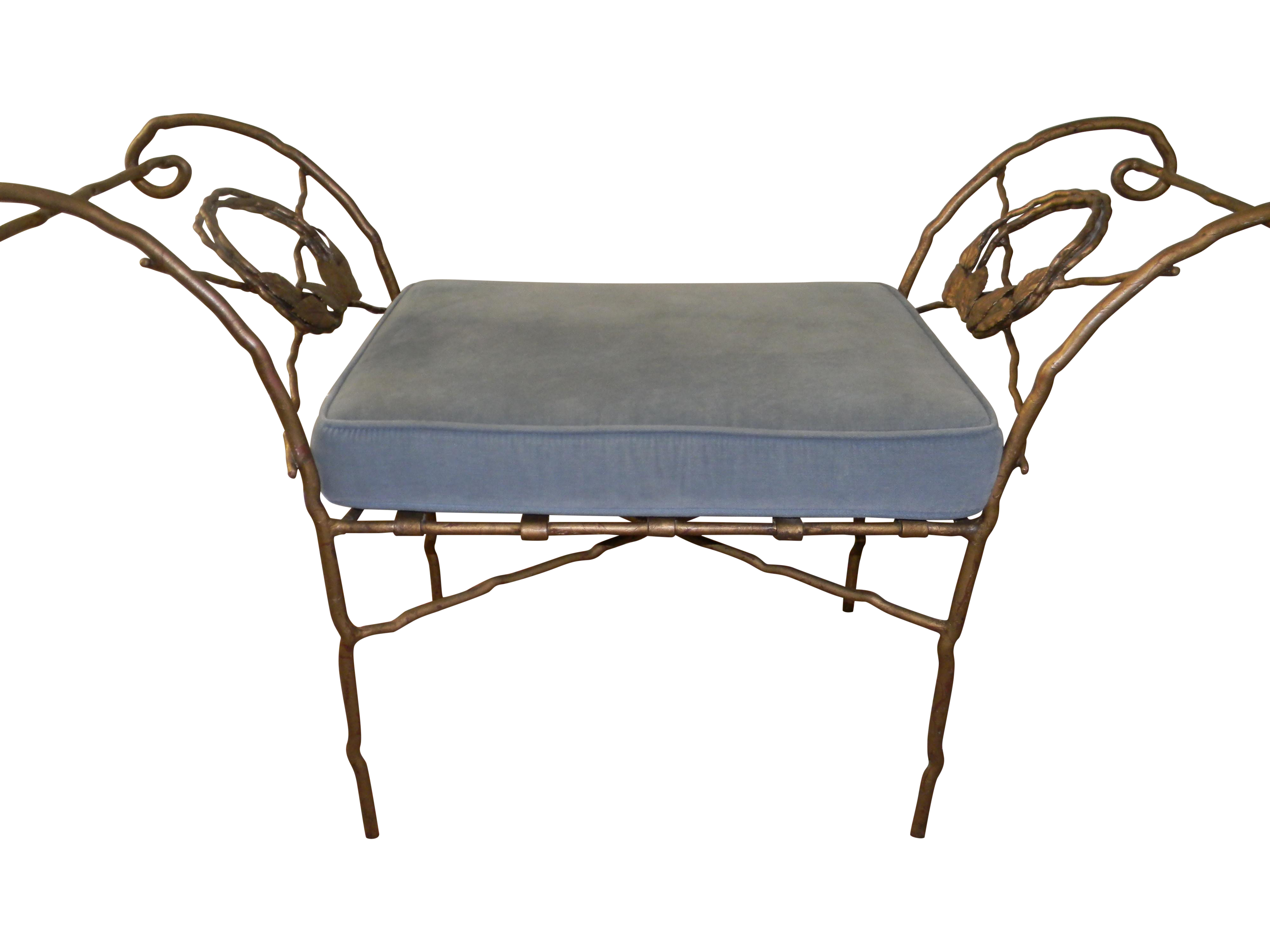 Wrought Iron Benches A Pair Chairish