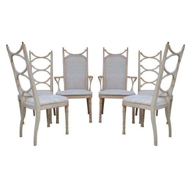 Tomlinson Pavane Hollywood Regency Dining Chairs - Set of   Chairish
