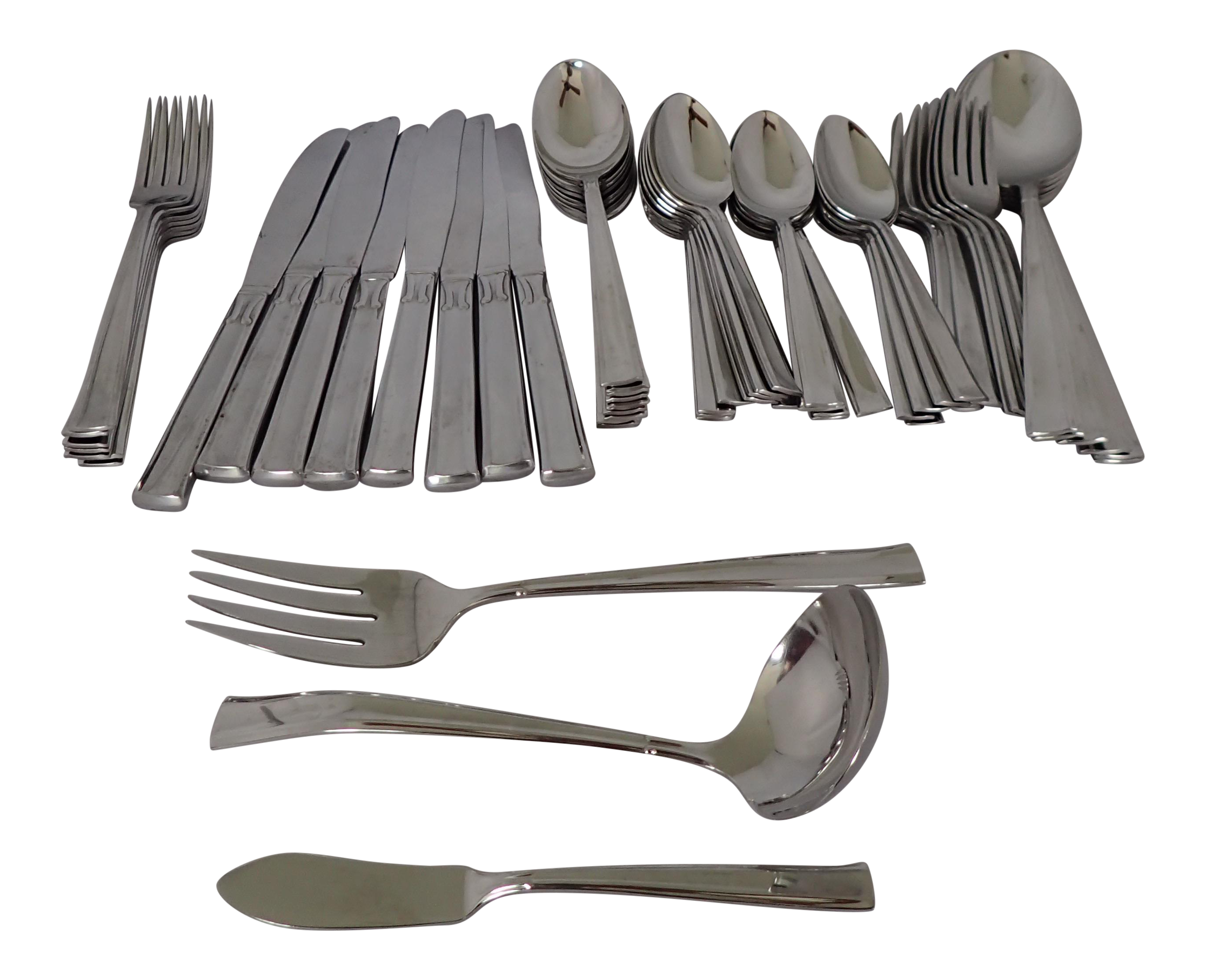 Modern stainless flatware set chairish - Contemporary stainless flatware ...