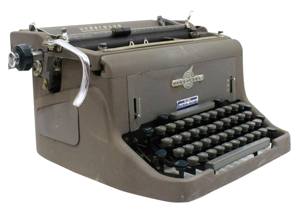 1950s Underwood 150 Typewriter With Cover Chairish