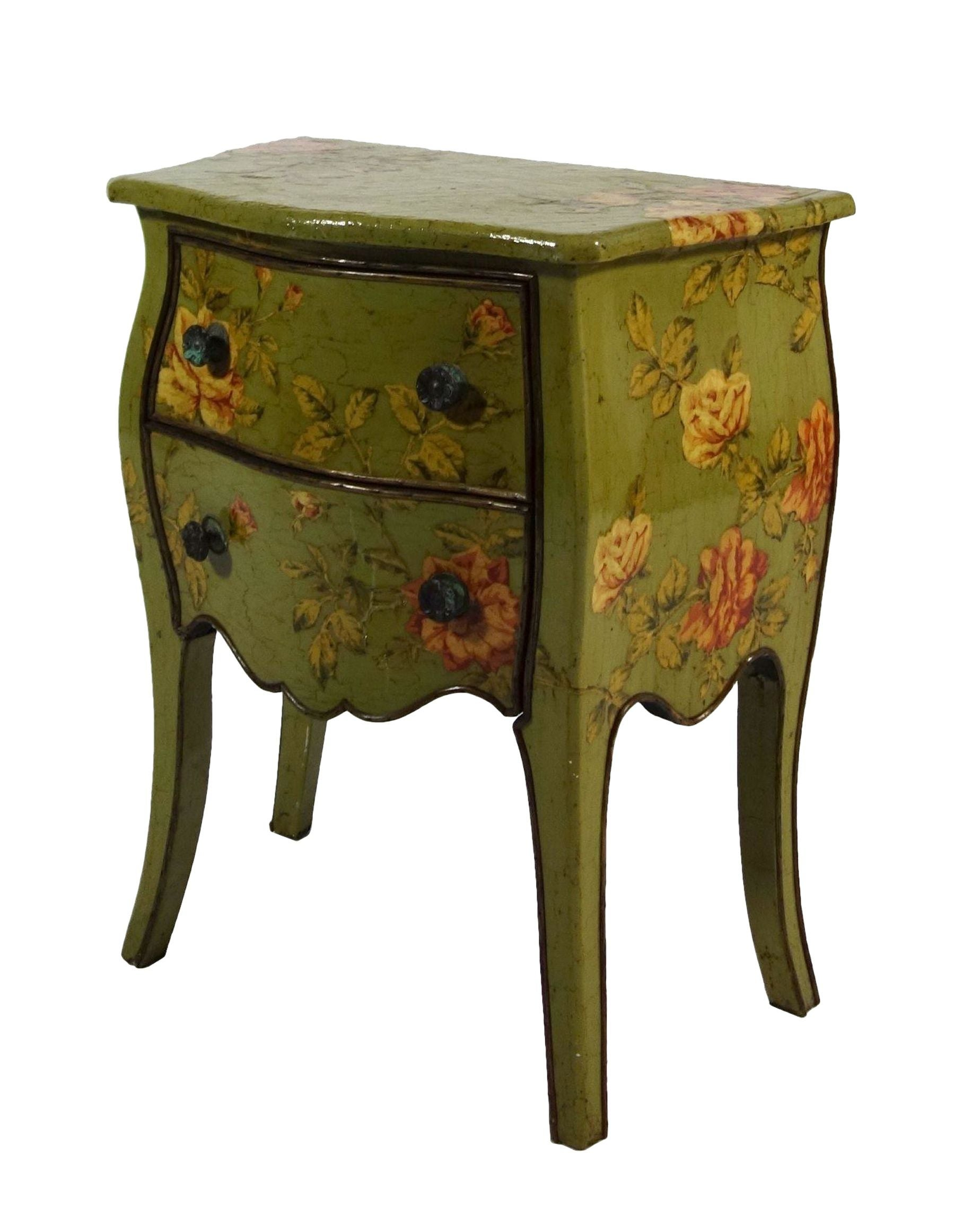 petite french commode with floral motif chairish. Black Bedroom Furniture Sets. Home Design Ideas