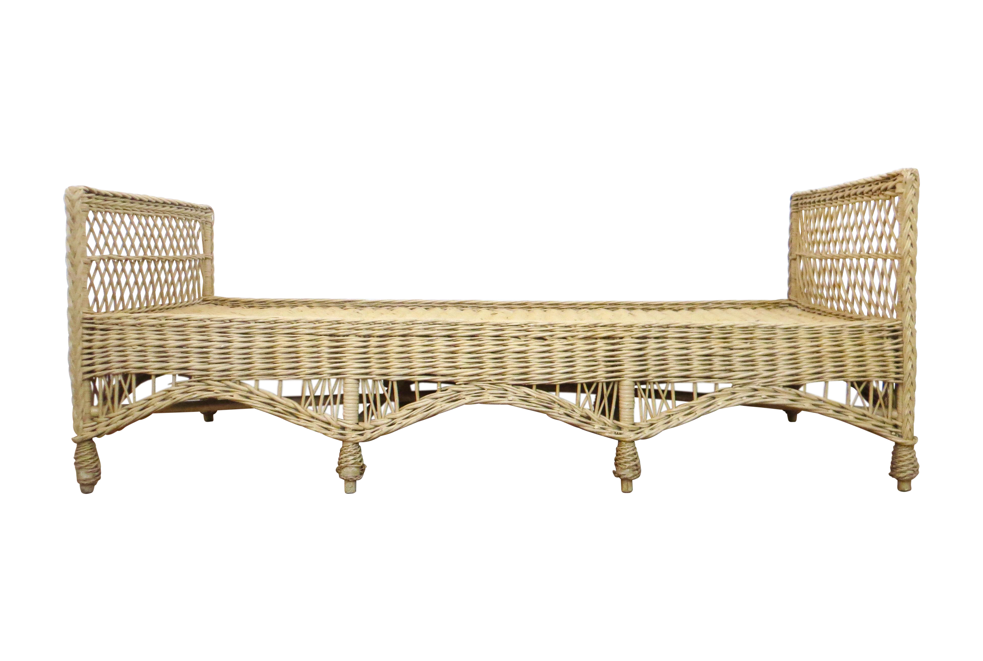 Vintage Wicker Rattan Daybed By Bar Harbor Chairish