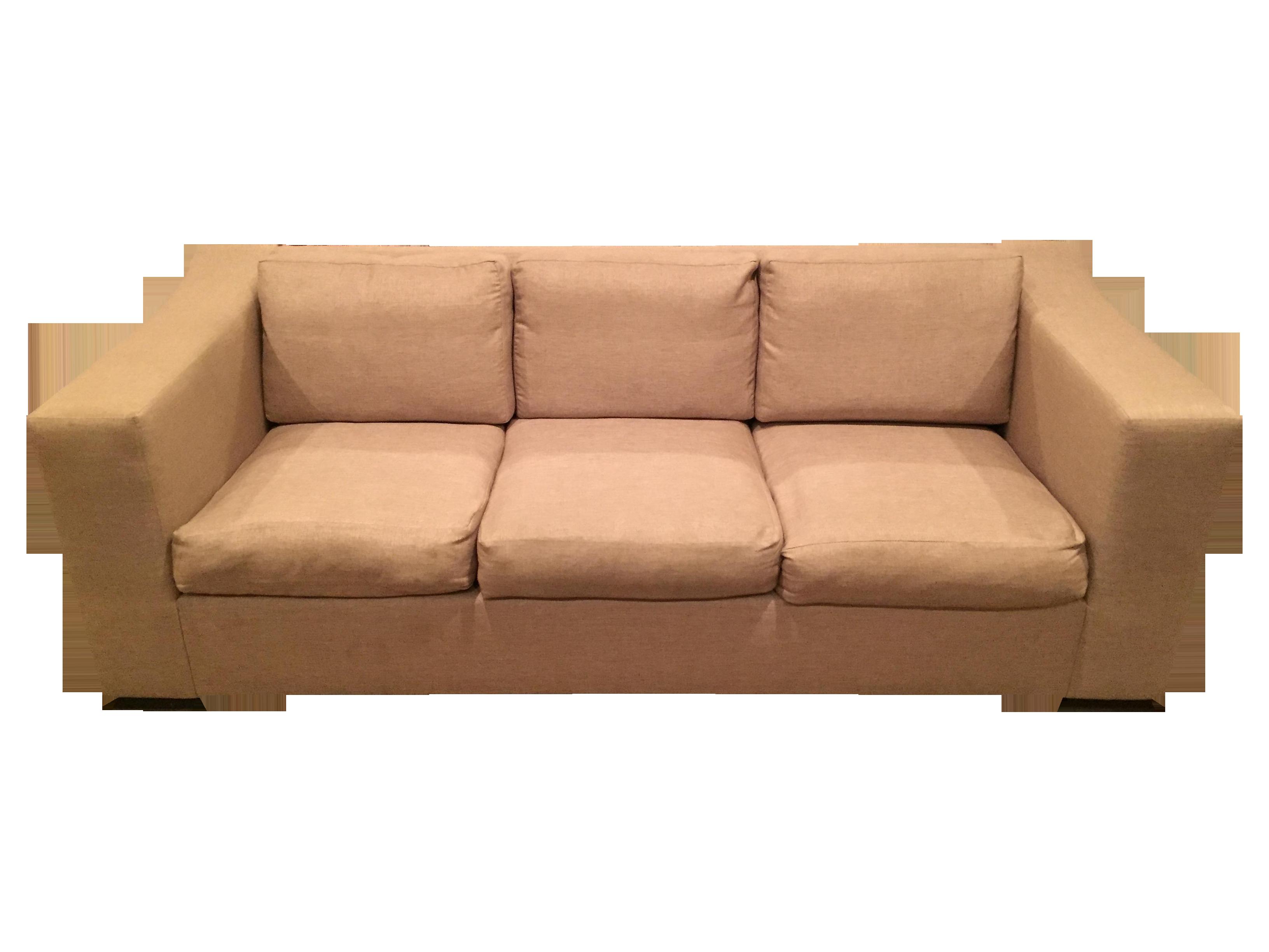 Luxury Sofa with Throw Pillows