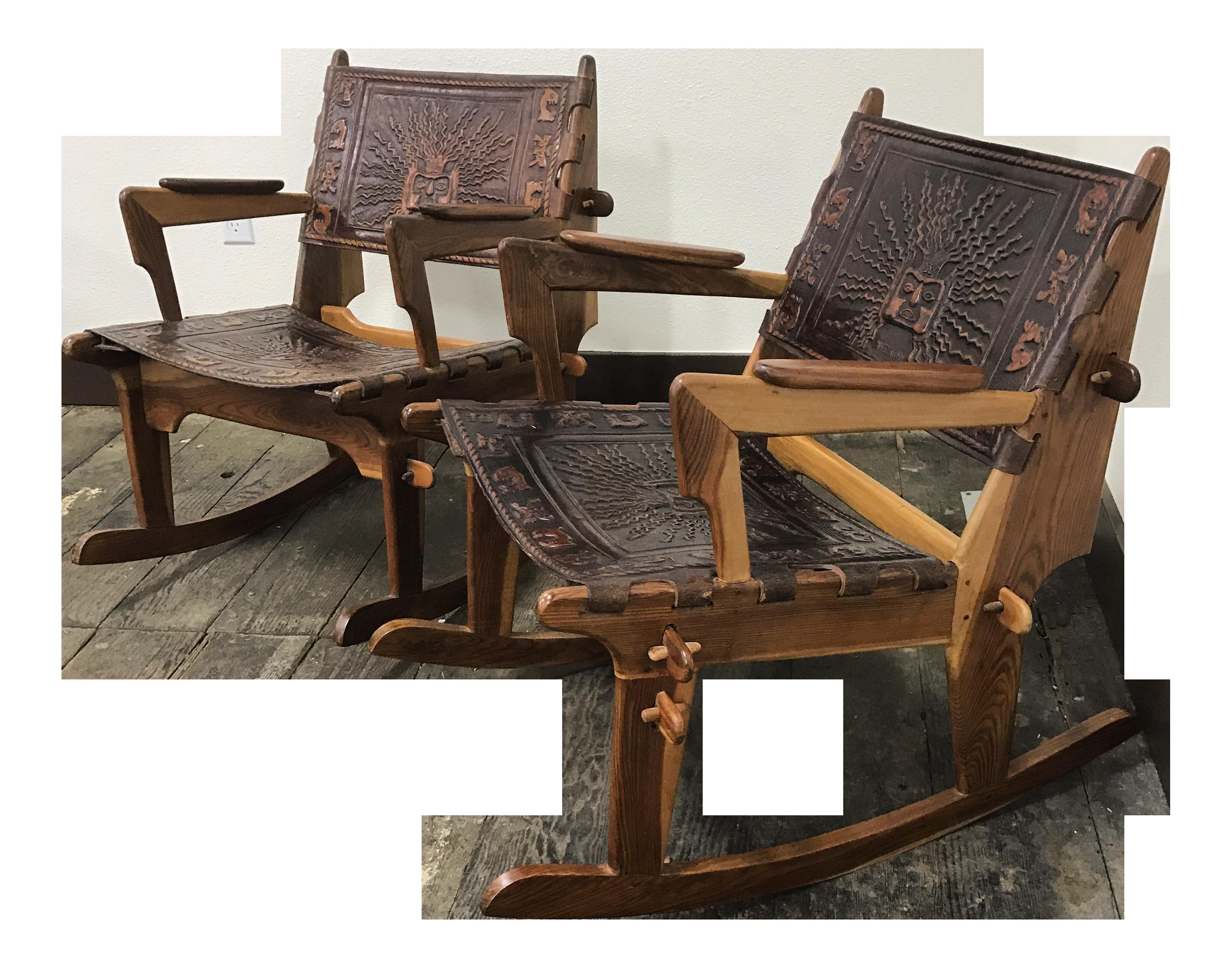 Angel Pazmino Mid Century Modern Rocking Chairs A Pair