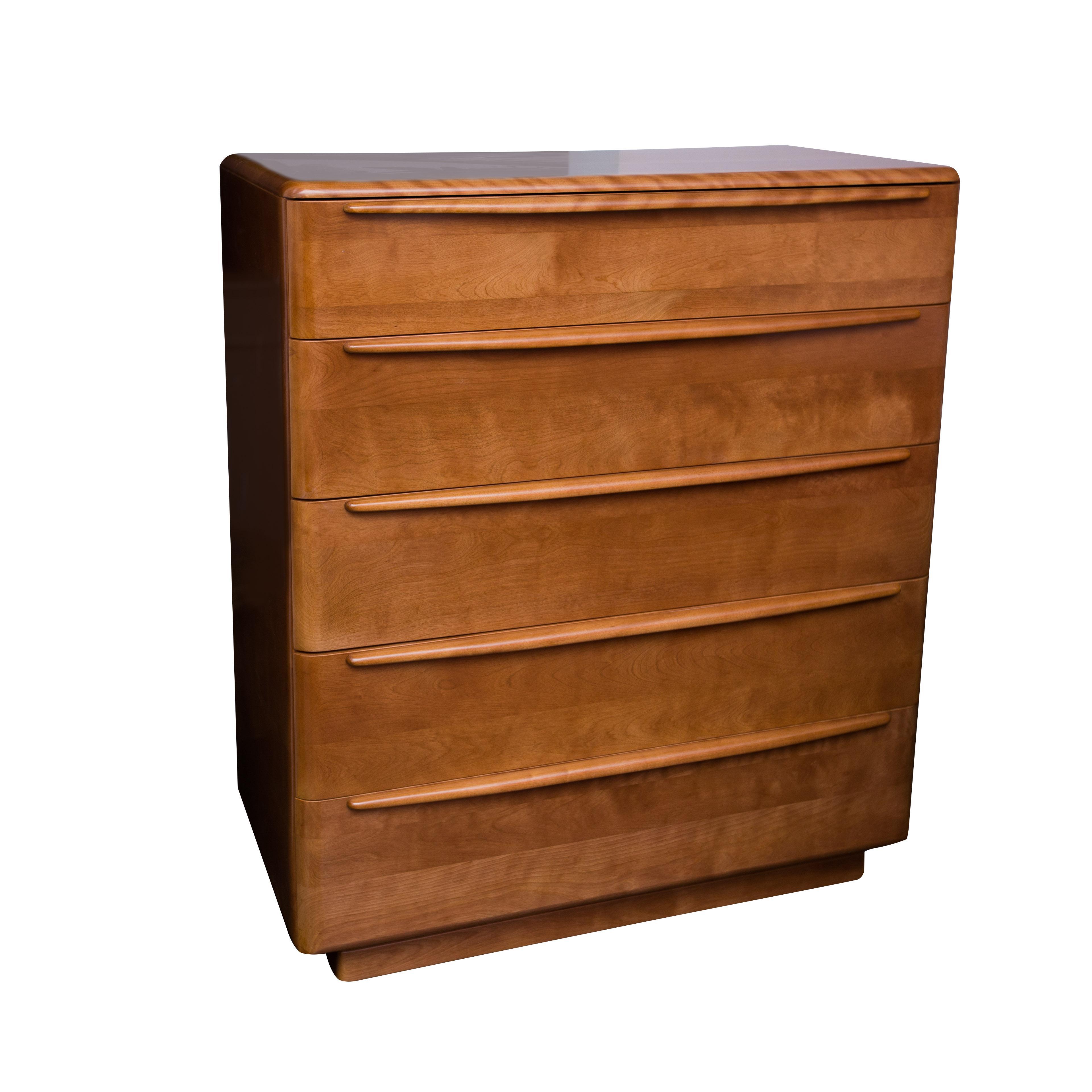Heywood Wakefield Walnut Finish Tall Dresser Chairish