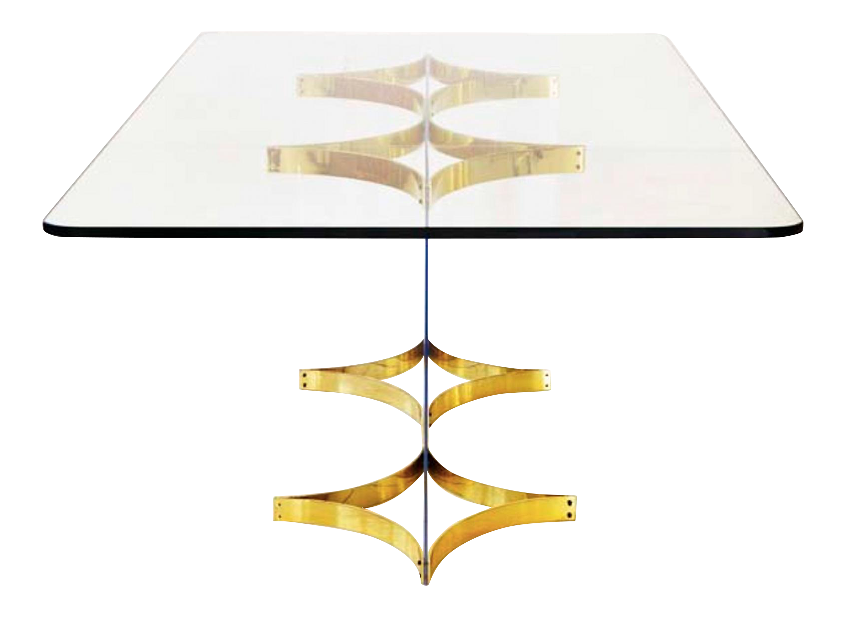 luxury brass lucite dining table by alessandro albrizzi decaso
