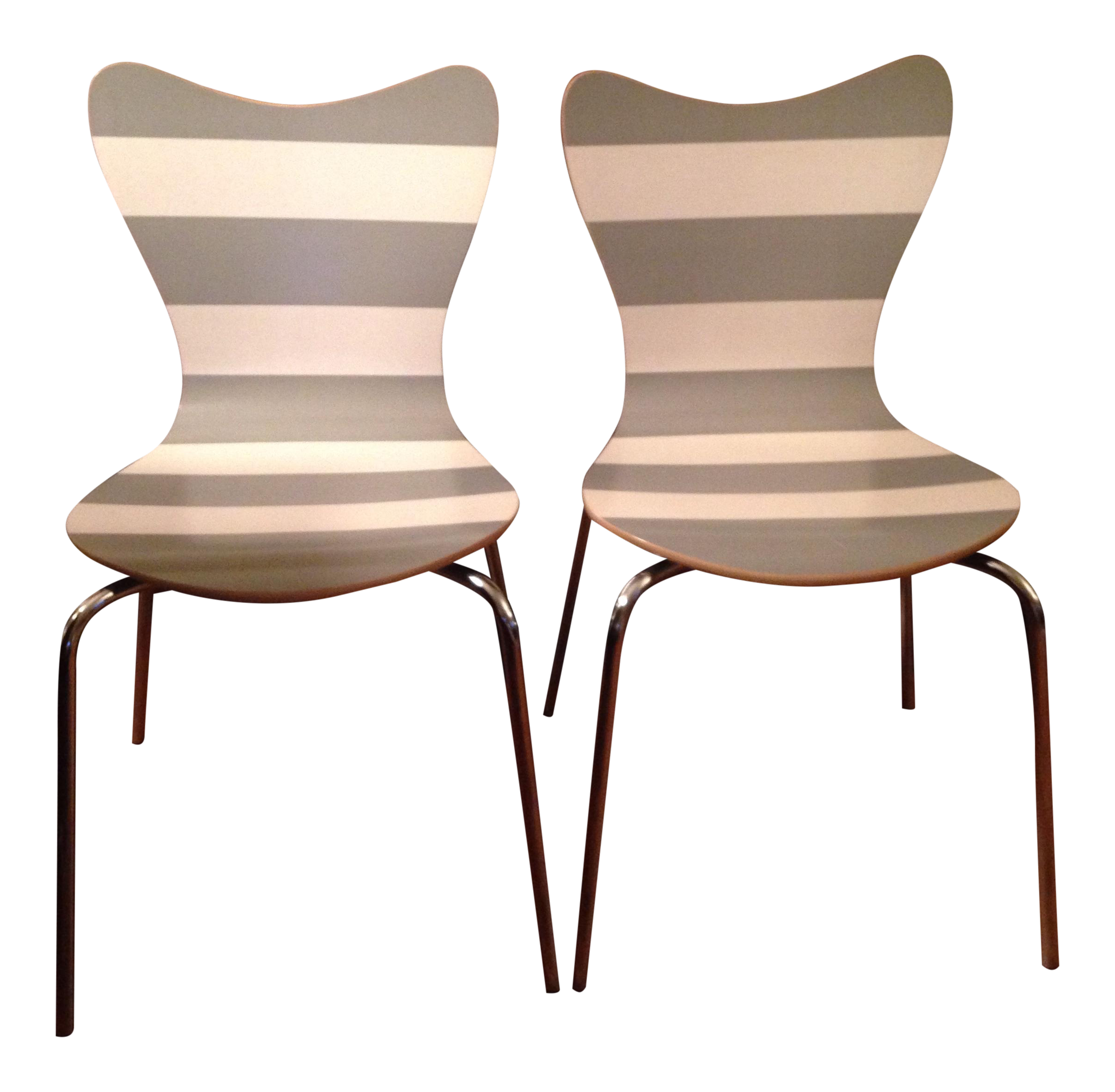 West Elm Scoop Back Dining Chairs A Pair Chairish