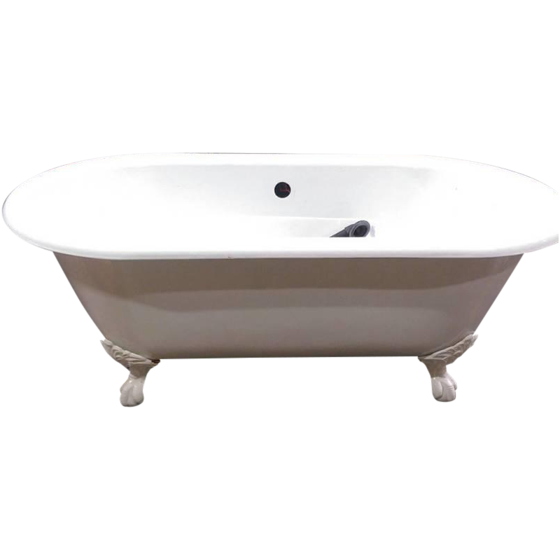 white vintage clawfoot cast iron bathtub chairish. Black Bedroom Furniture Sets. Home Design Ideas