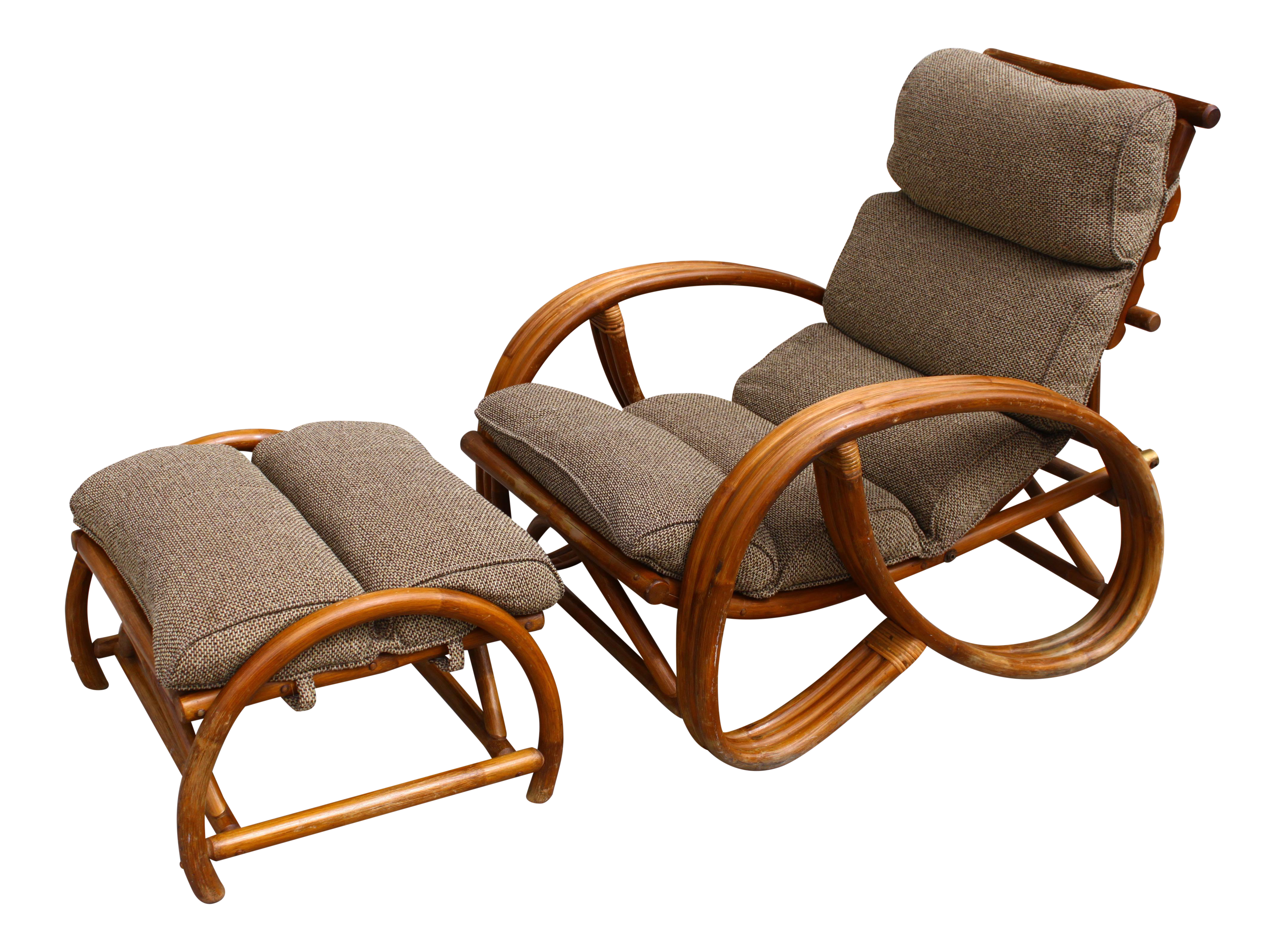 Reclining Chair & Ottoman in the Manner of Paul Frankl