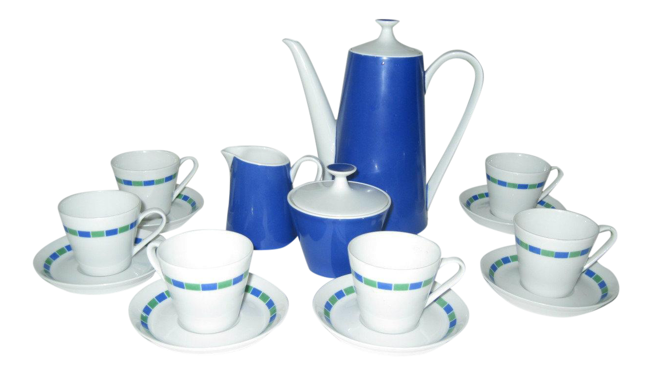fairwood china midcentury modern tea set schonwald germany  - image of fairwood china midcentury modern tea set schonwald germany