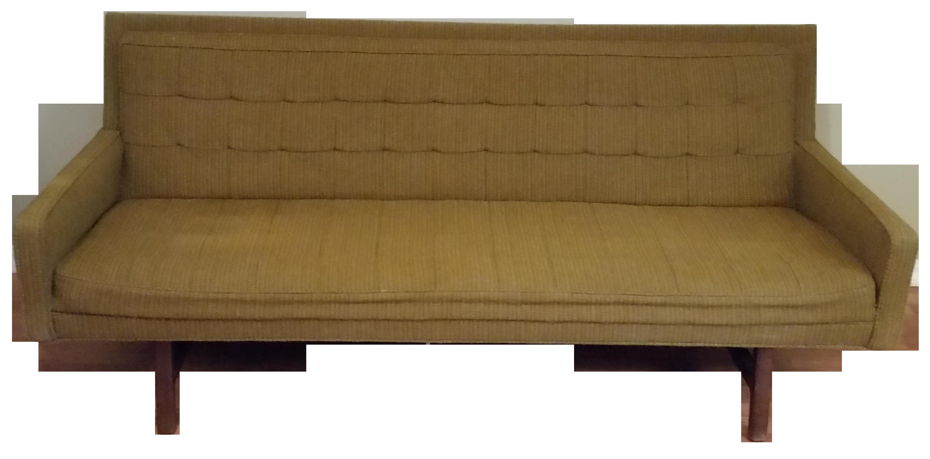 Milo Baughman 1969 Olive Green Sofa