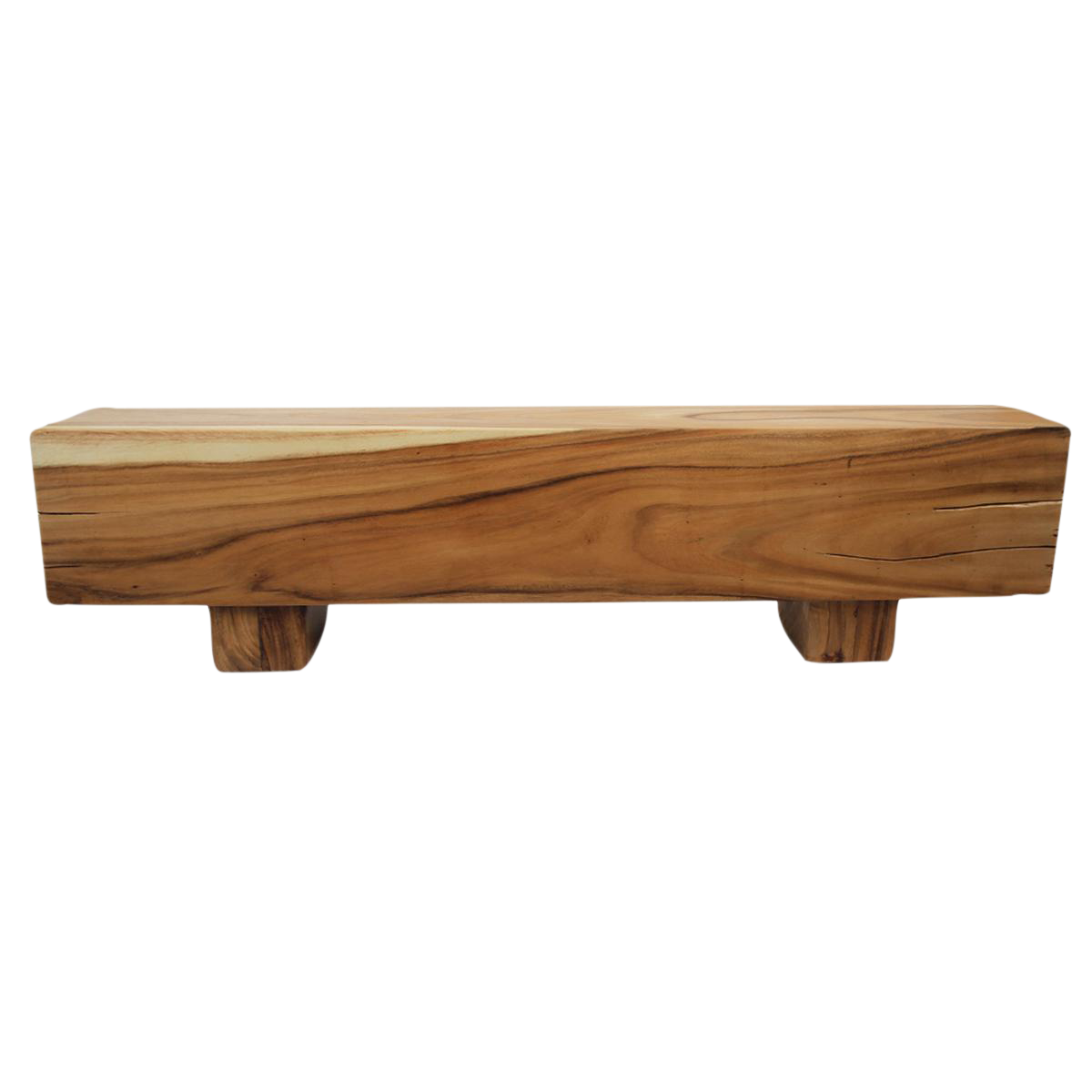 Modern Saur Wood Block Bench Chairish