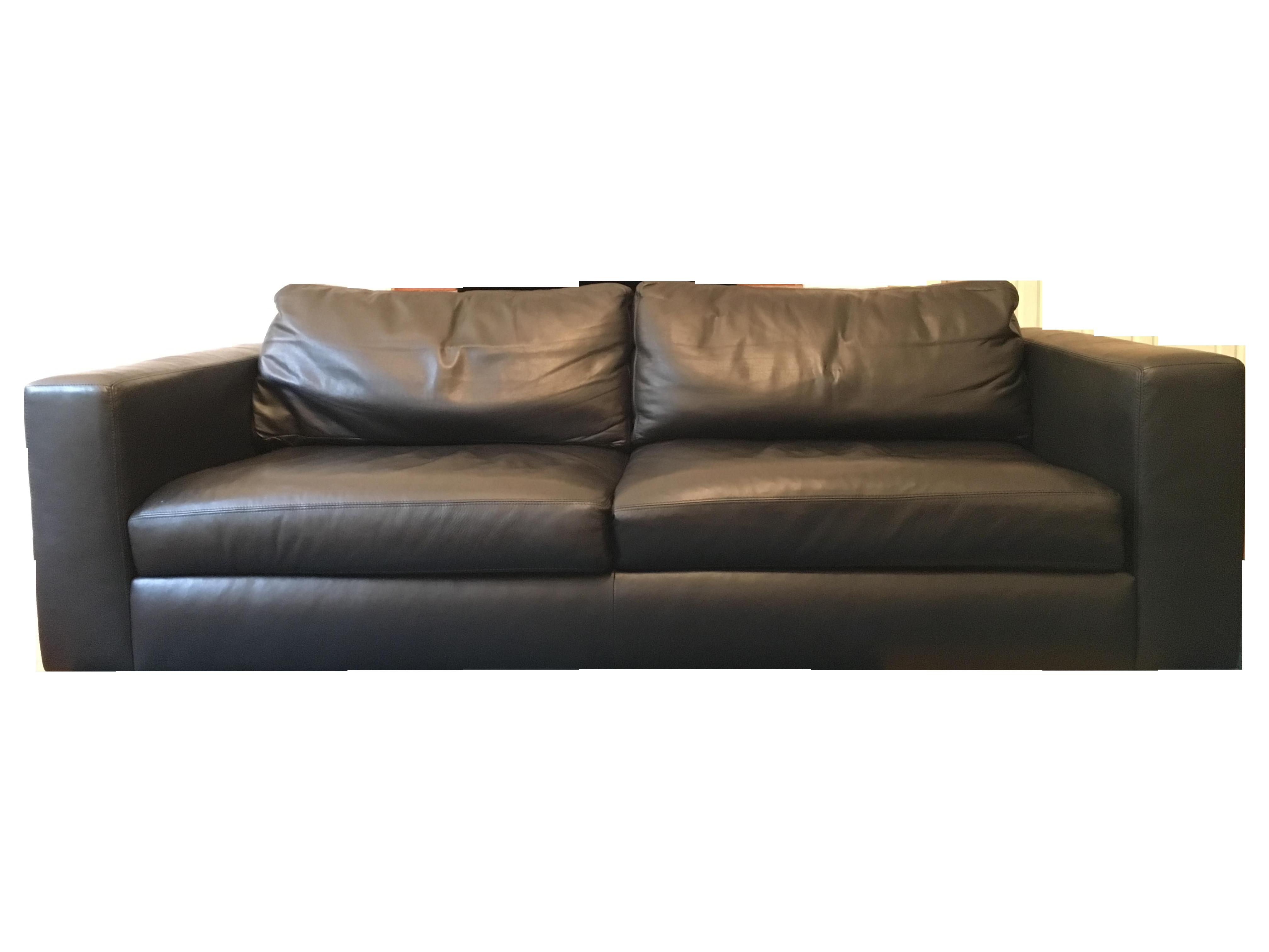 Exceptionnel Dwr 86 Reid Leather Sofa Chairish