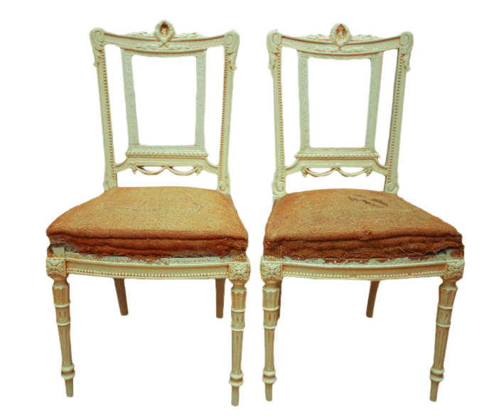 Antique Gustavian Swedish Side Chairs - A Pair - Vintage & Used Accent Chairs Chairish