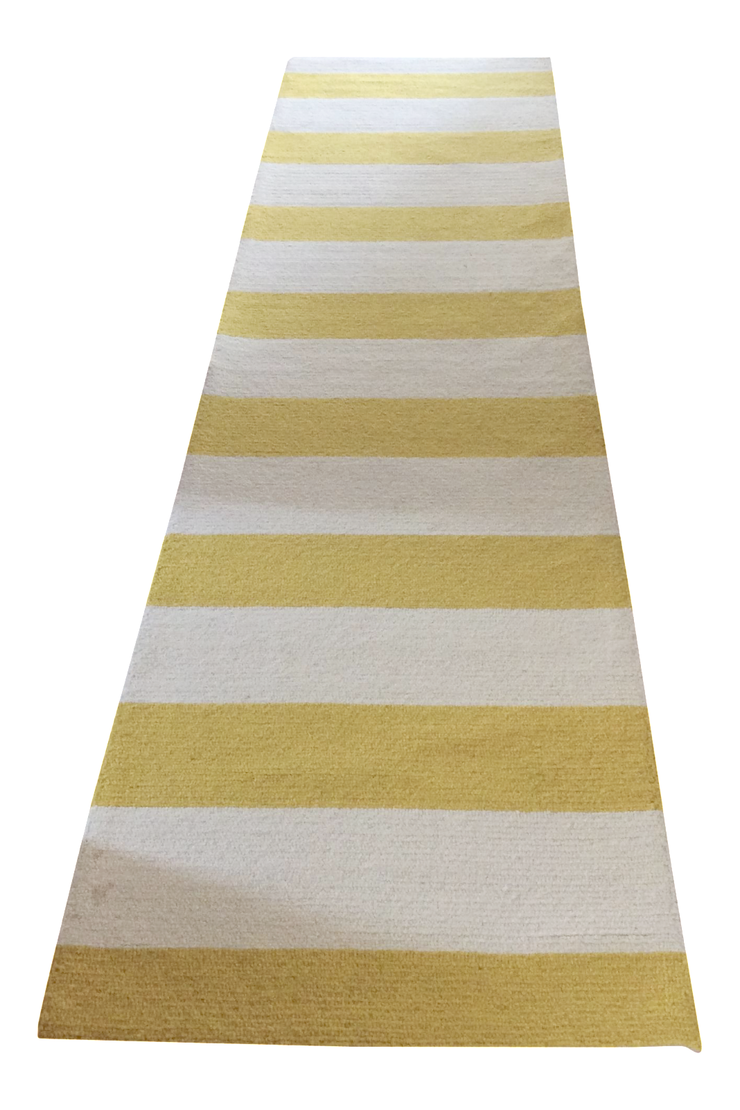nu loom yellow white striped rug 3 6 10 chairish. Black Bedroom Furniture Sets. Home Design Ideas