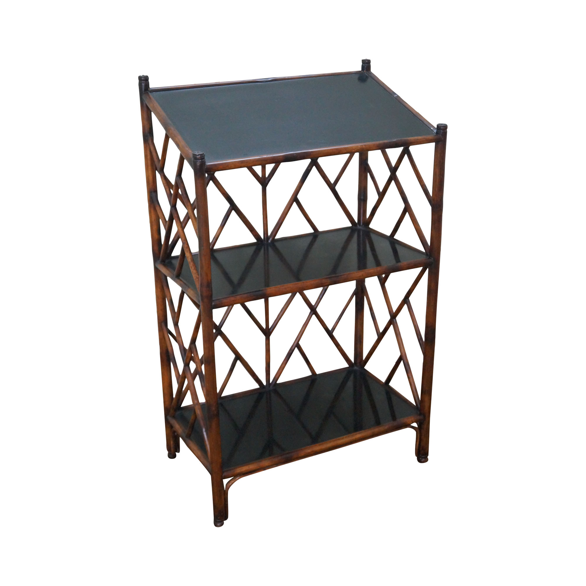 Theodore Alexander Faux Bamboo Etagere Bookcase Chairish