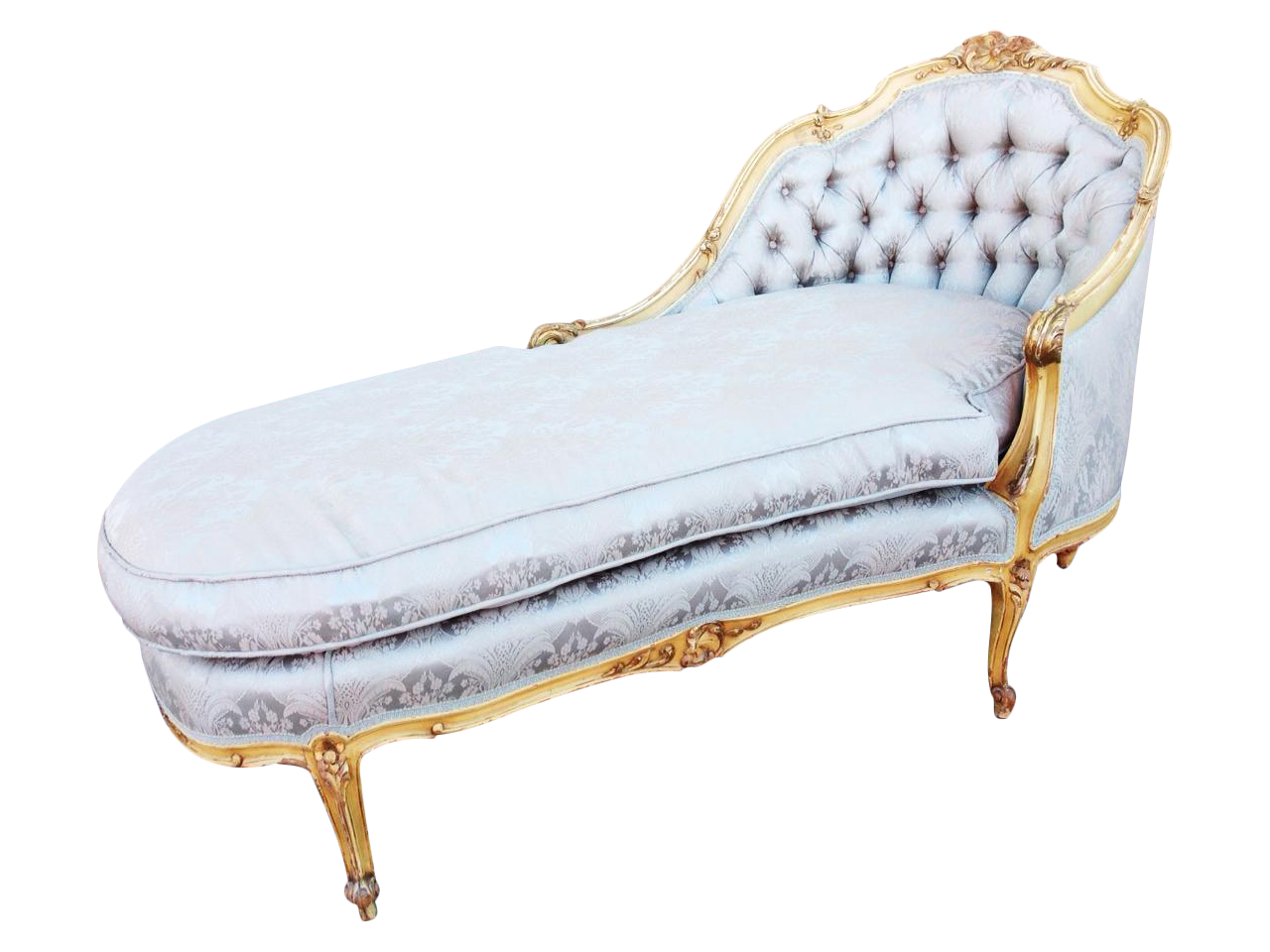 Antique french chaise lounge or fainting couch chairish for Antique french chaise lounge