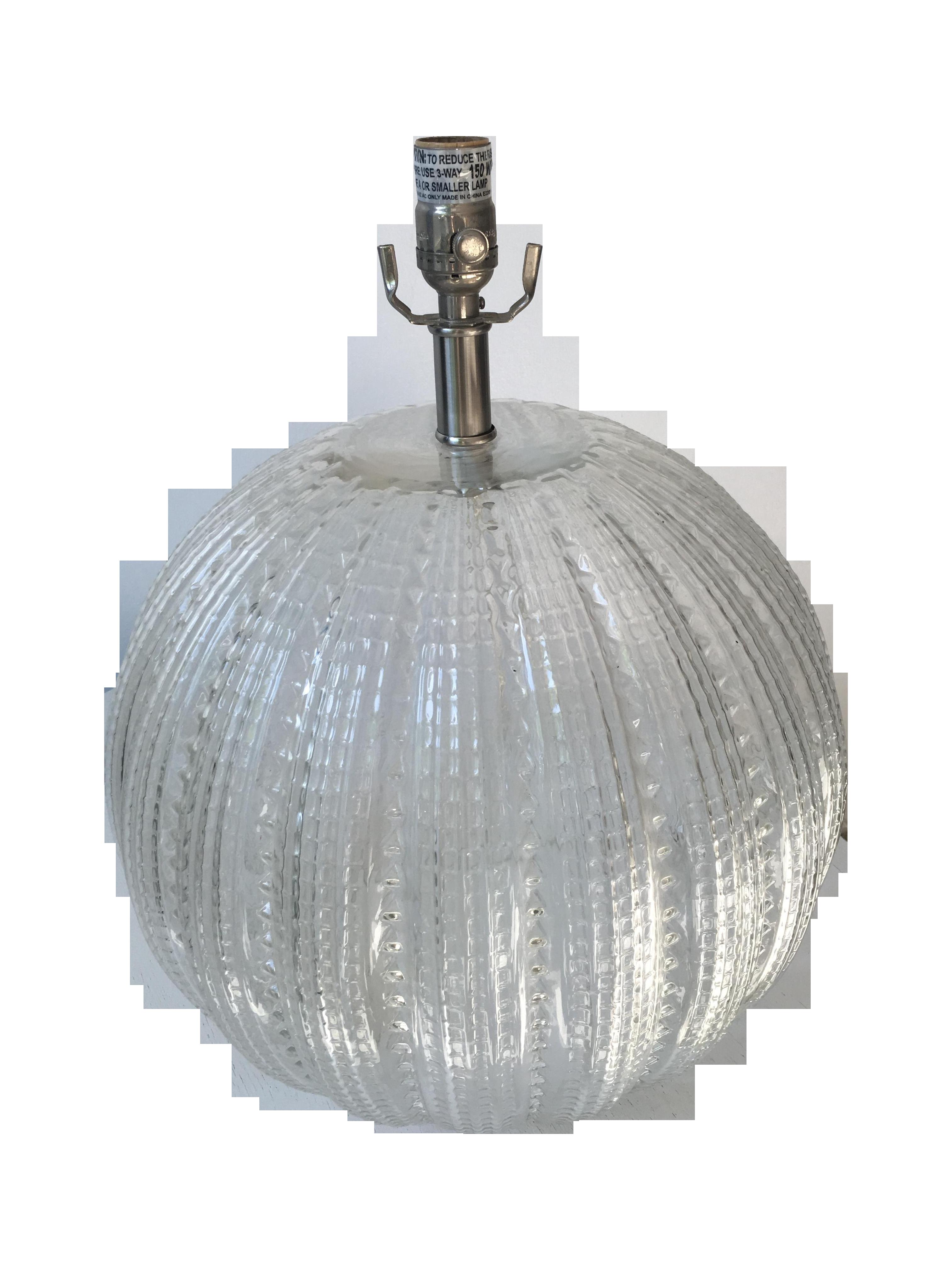 Robert Abbey Glass Sea Urchin Table Lamp Chairish