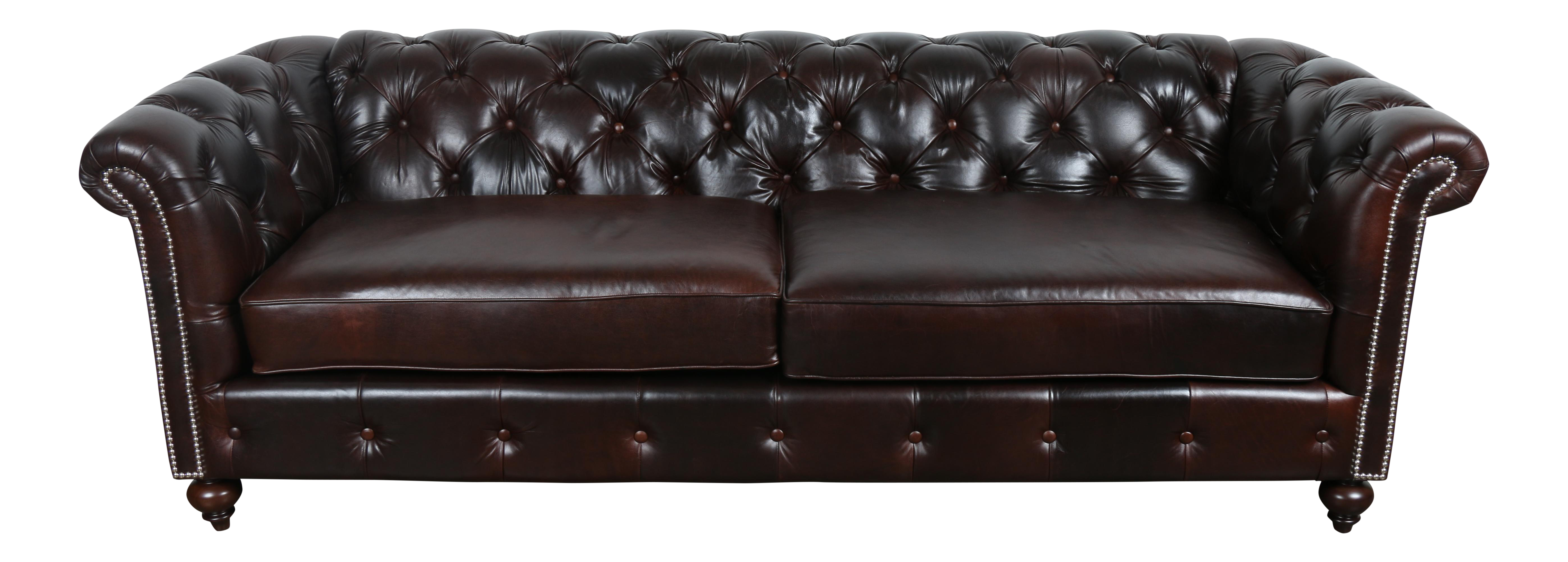chesterfield leather sofa chairish. Black Bedroom Furniture Sets. Home Design Ideas