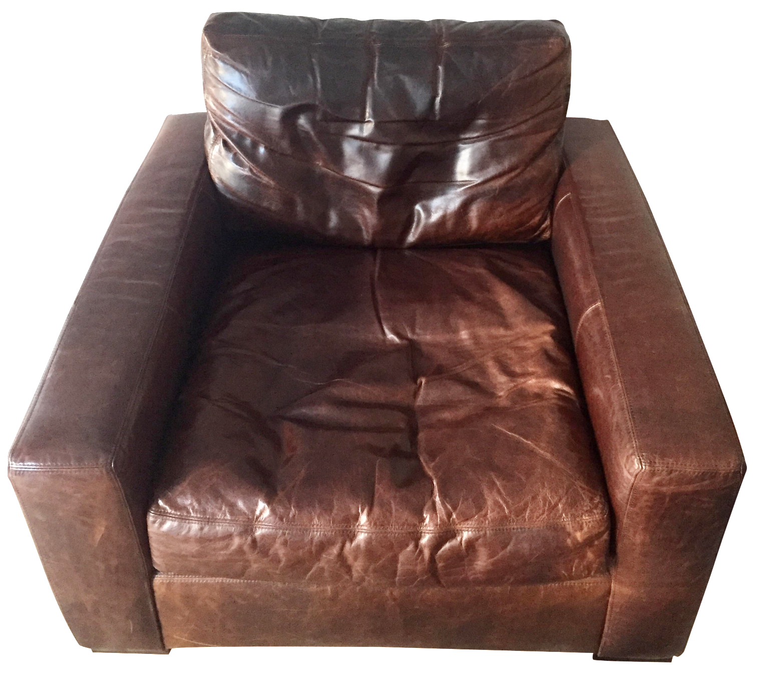Restoration Hardware Leather Maxwell Chair
