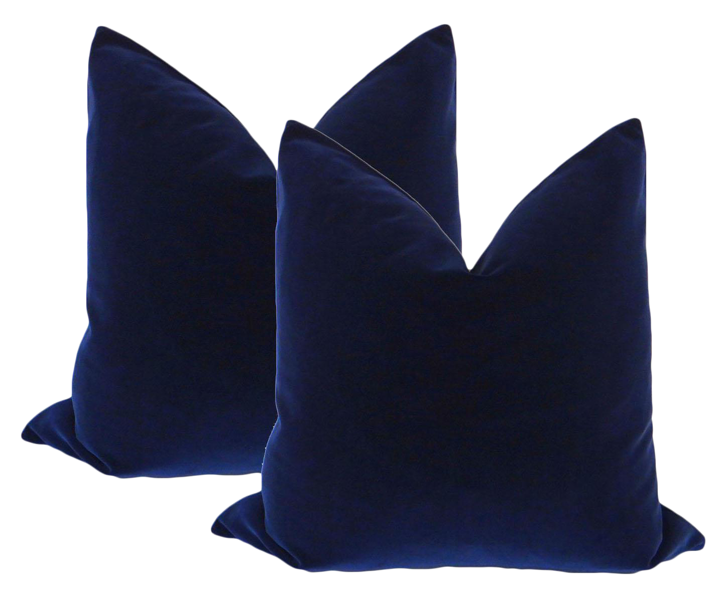 22 Quot Sapphire Blue Velvet Pillows A Pair Chairish