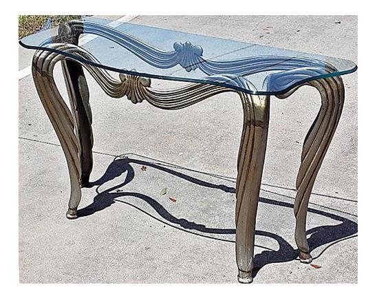 art nouveau style console table chairish. Black Bedroom Furniture Sets. Home Design Ideas
