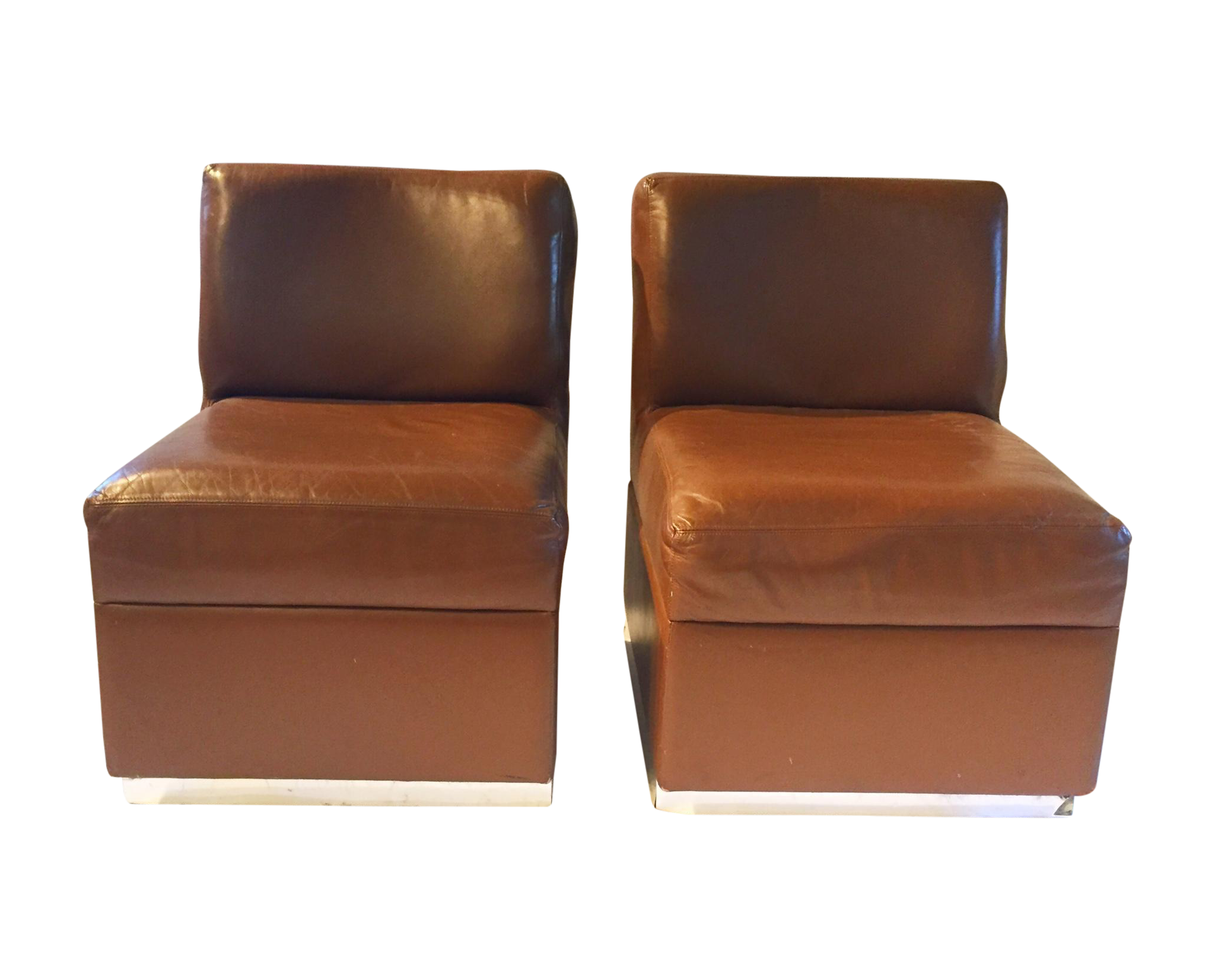 1970s Gucci Leather Slipper Chairs - a Pair | Chairish