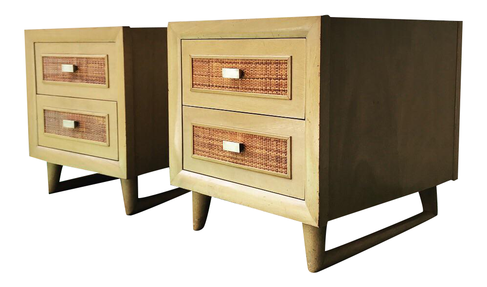 Grand Rapids Mid-Century 2 Drawer Nightstands - A Pair ...