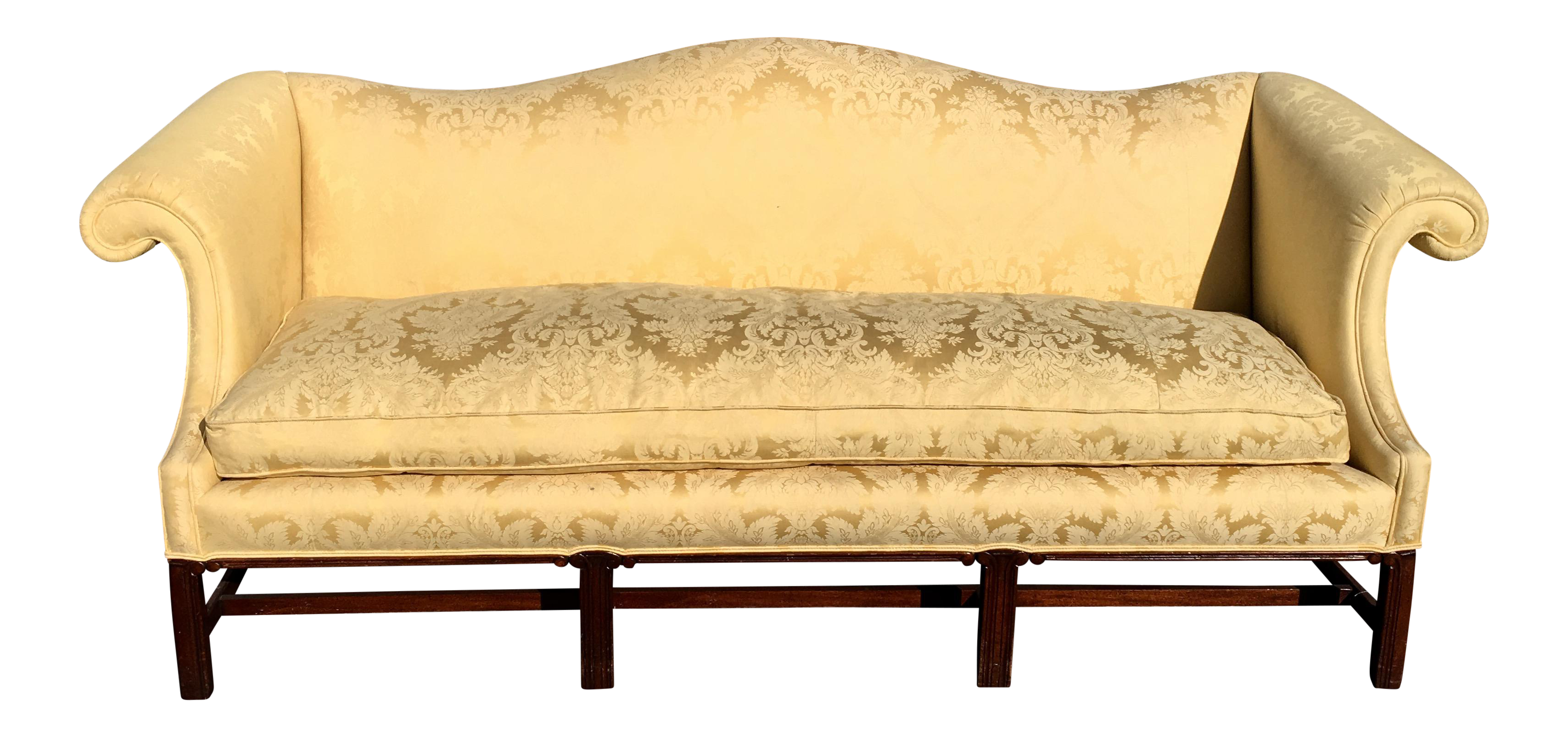 Antique Chippendale Camelback Sofa