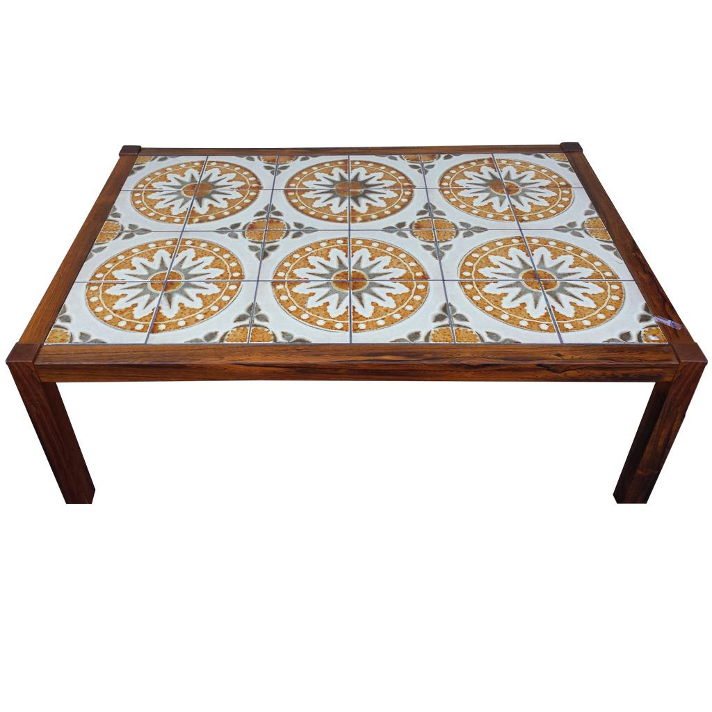 Mid Century Tile Top Coffee Table Chairish