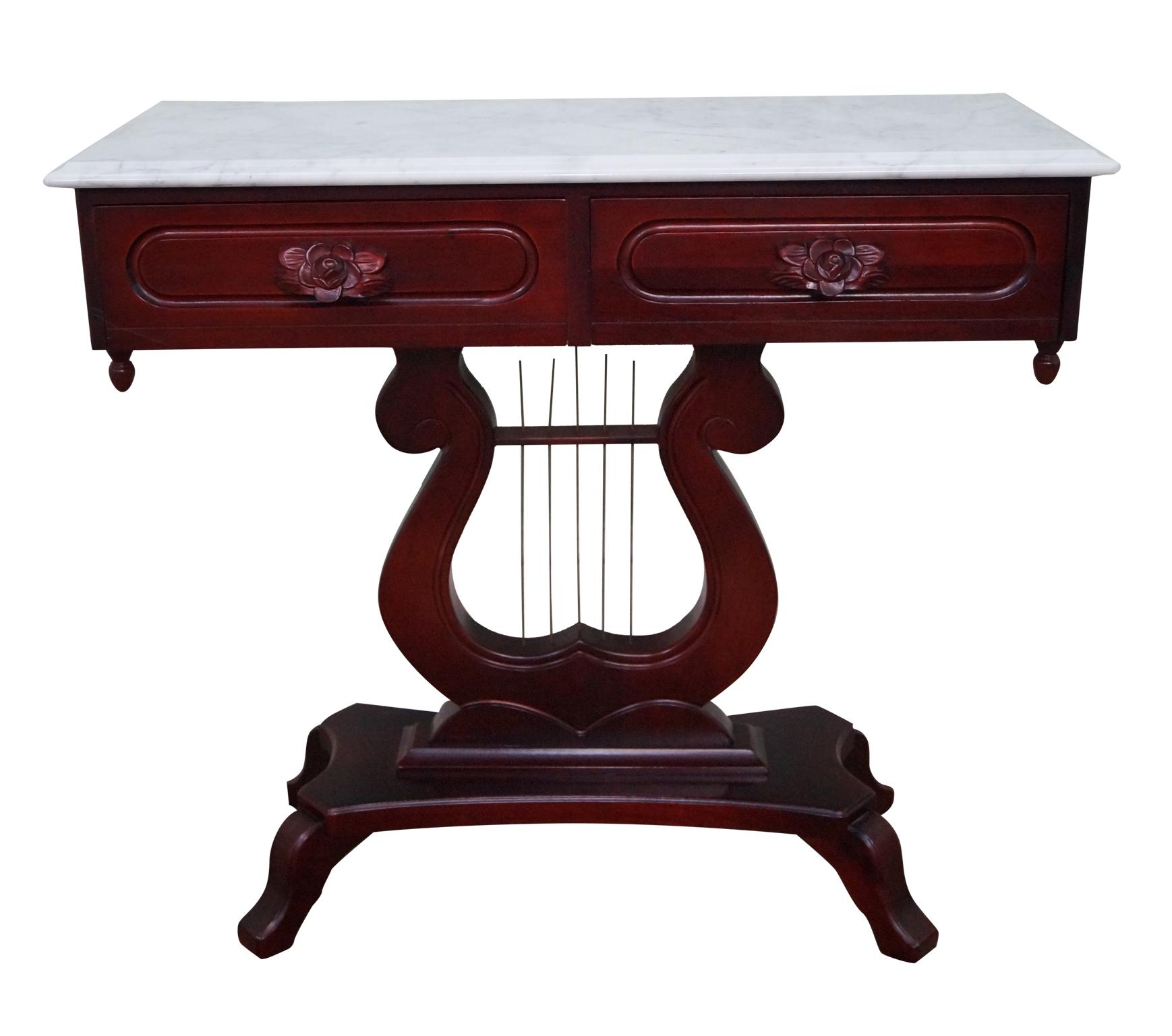 Kimball Solid Mahogany Victorian Style Console