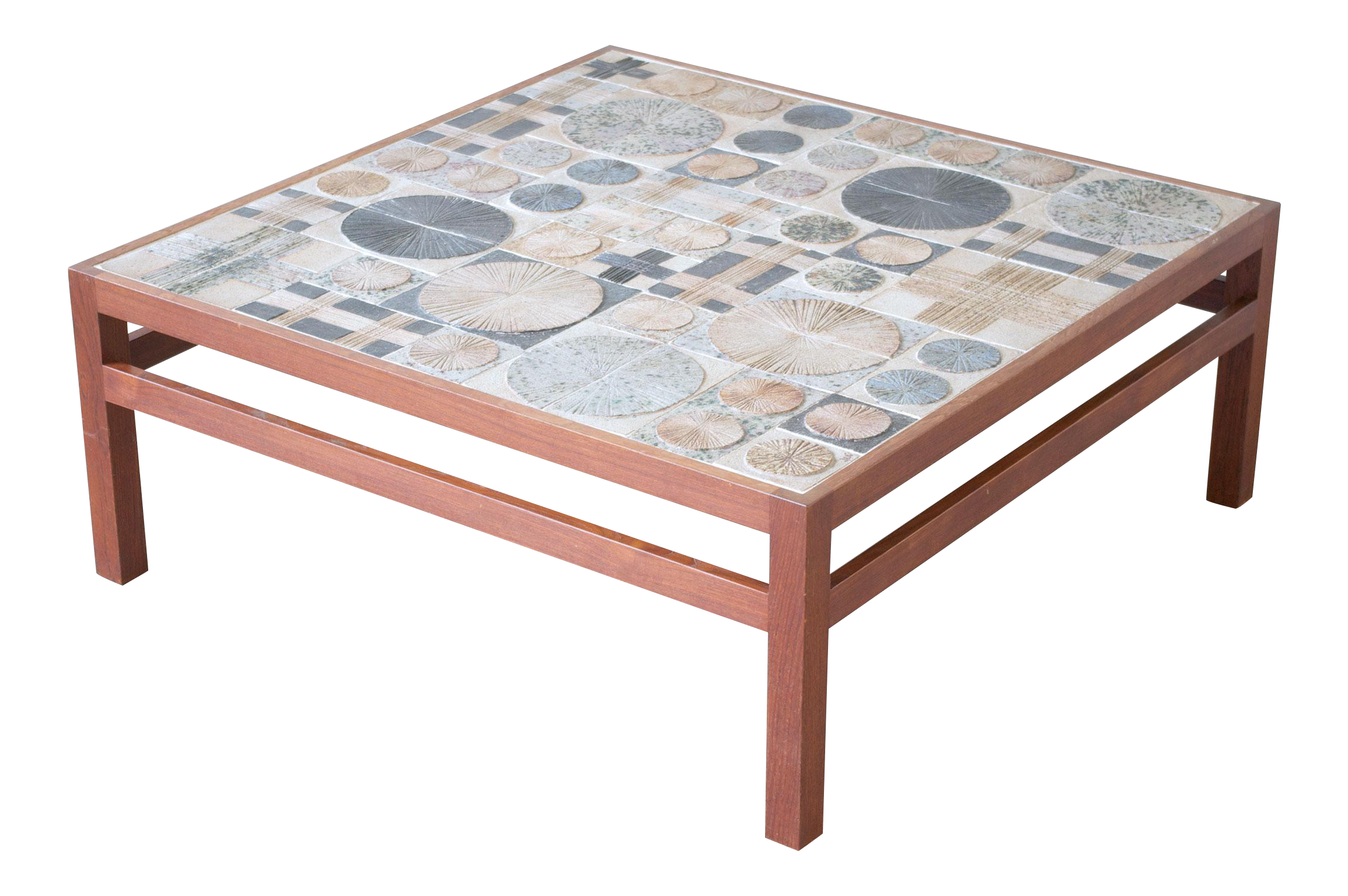 World Class Teak Coffee Table by Willy Beck with Tue Poulsen Tile