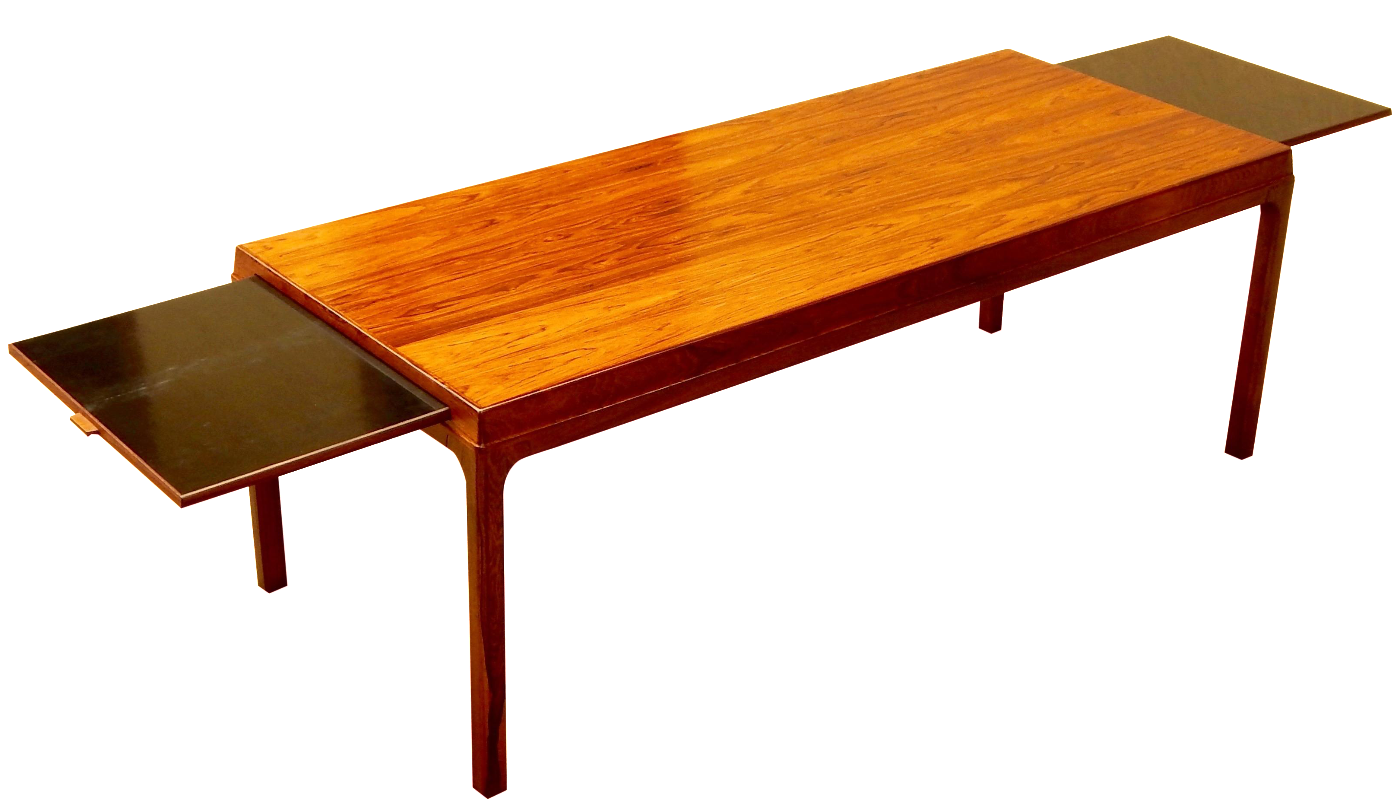 Extendable Coffee Table incredible danish extendable rosewood coffee table, 1960's | decaso