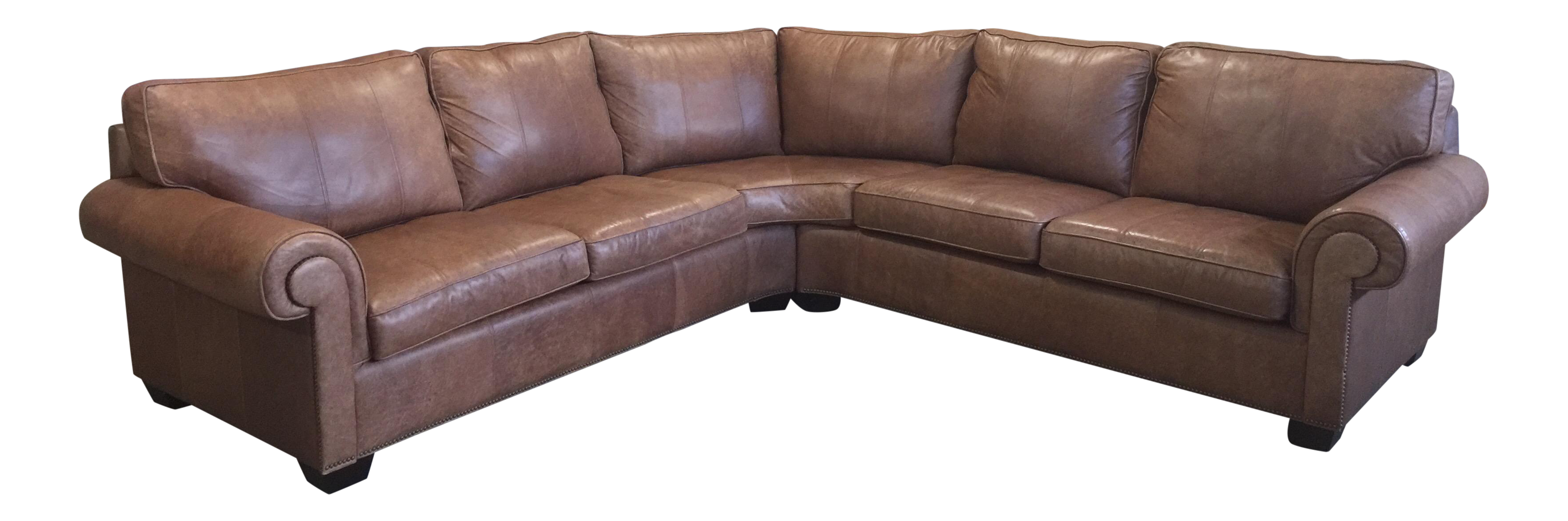 Bernhardt Es Leather Sectional