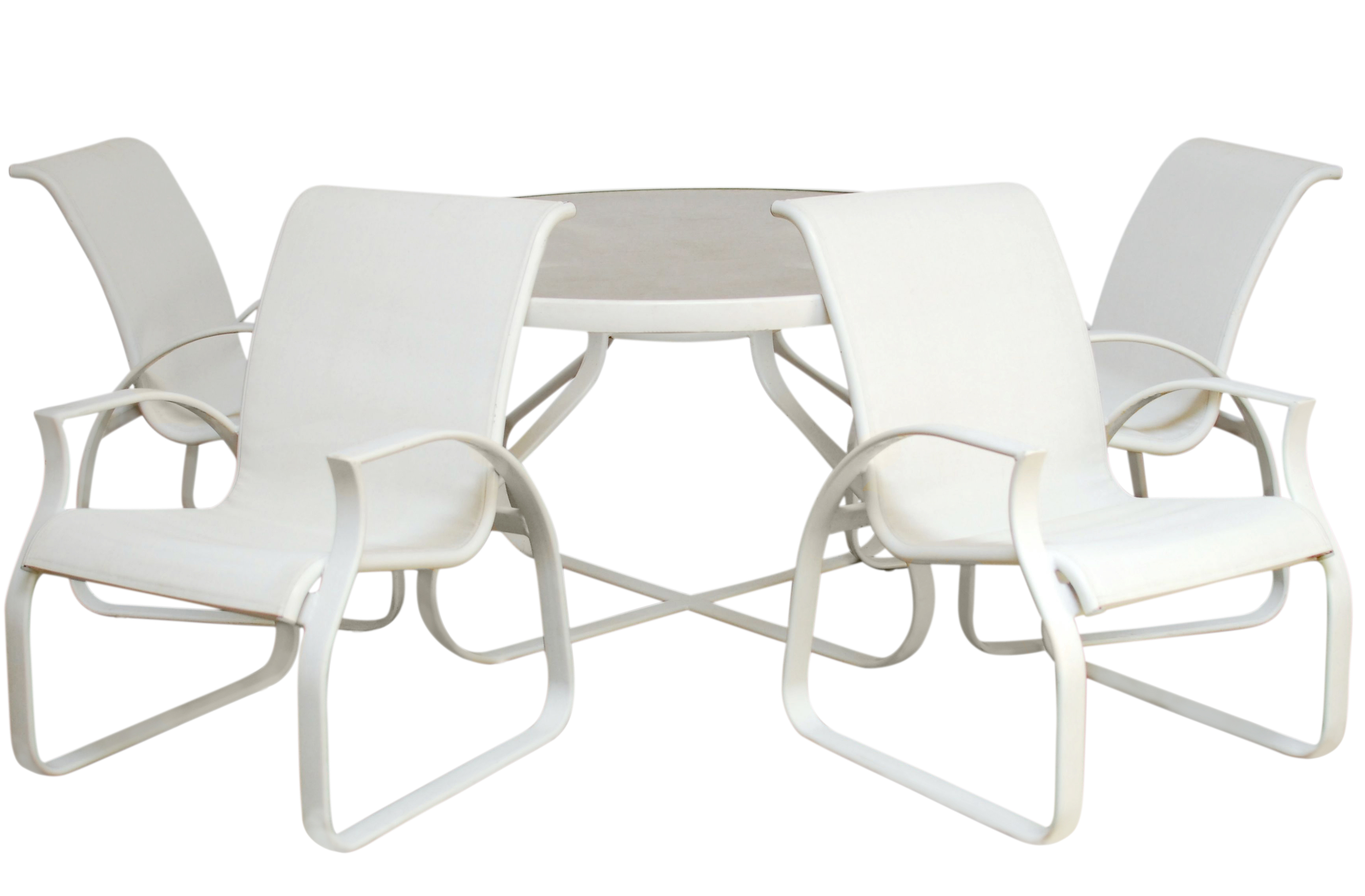 MidCentury Modern Tropitone Patio Furniture Set Chairish - Tropitone outdoor furniture