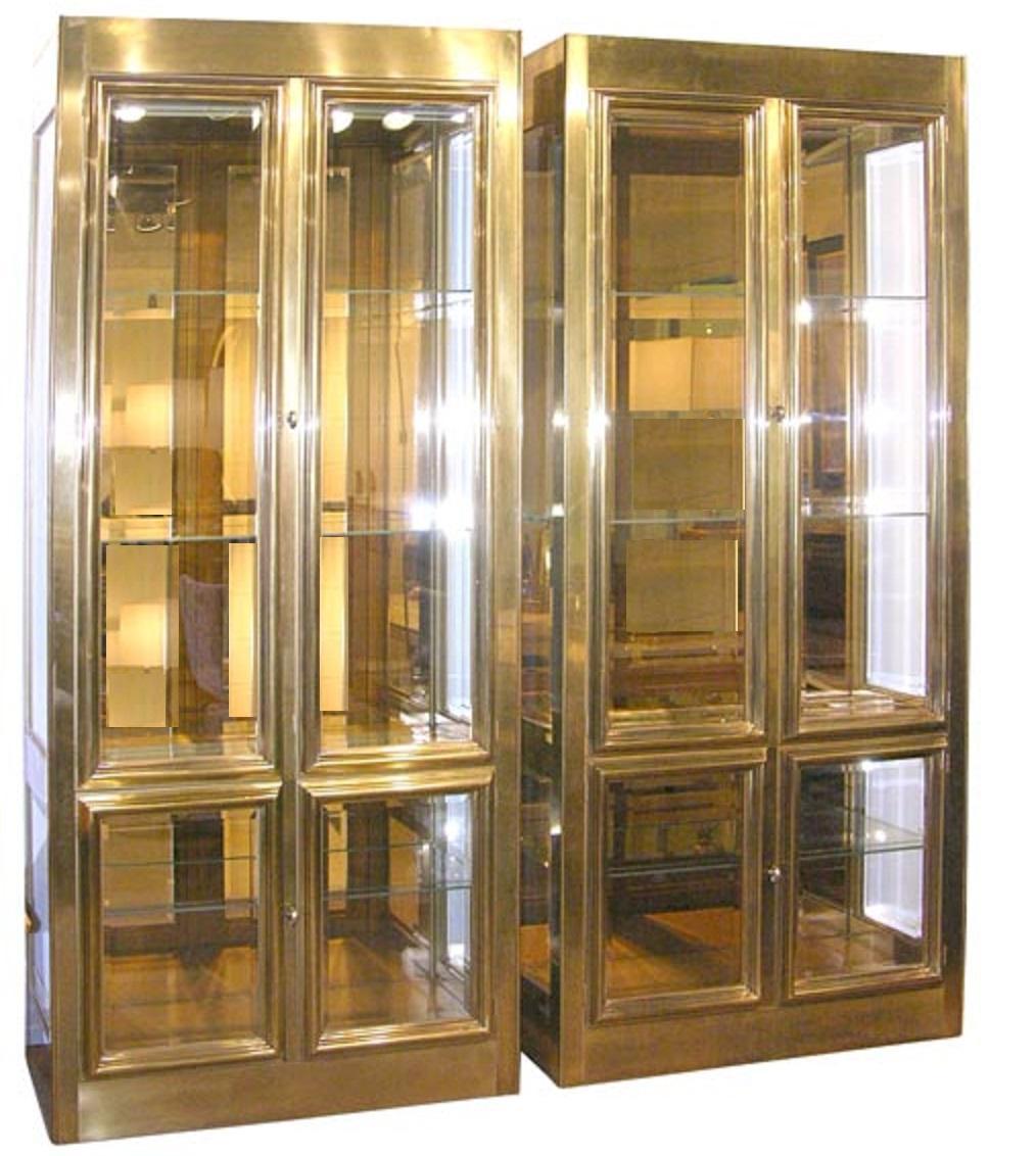 Vintage Mastercraft Brass Display Cabinet Chairish