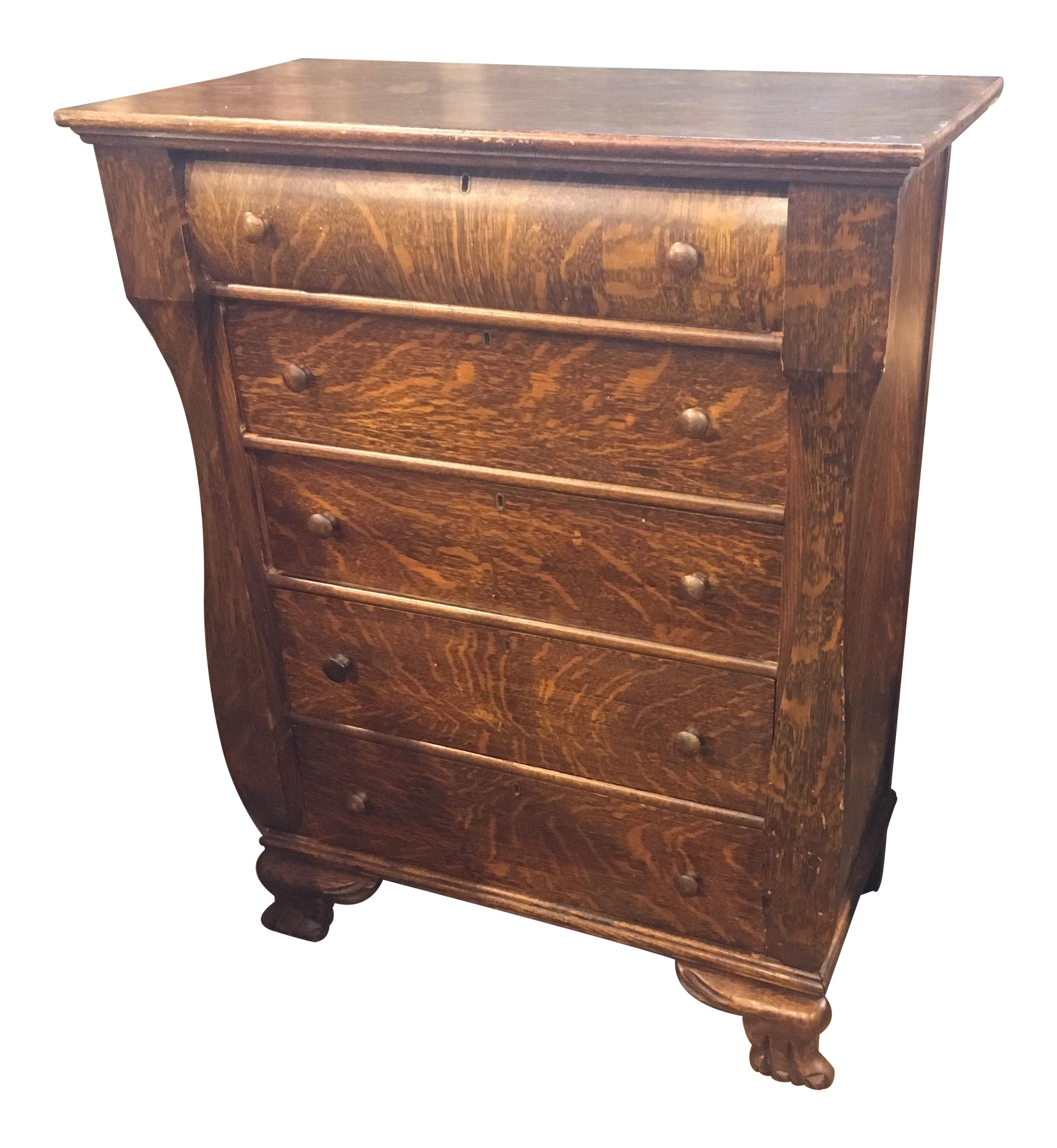 Oak Bedroom Chest Of Drawers Antique Bedroom Chest Of Drawers Tiger Oak Finish Chairish