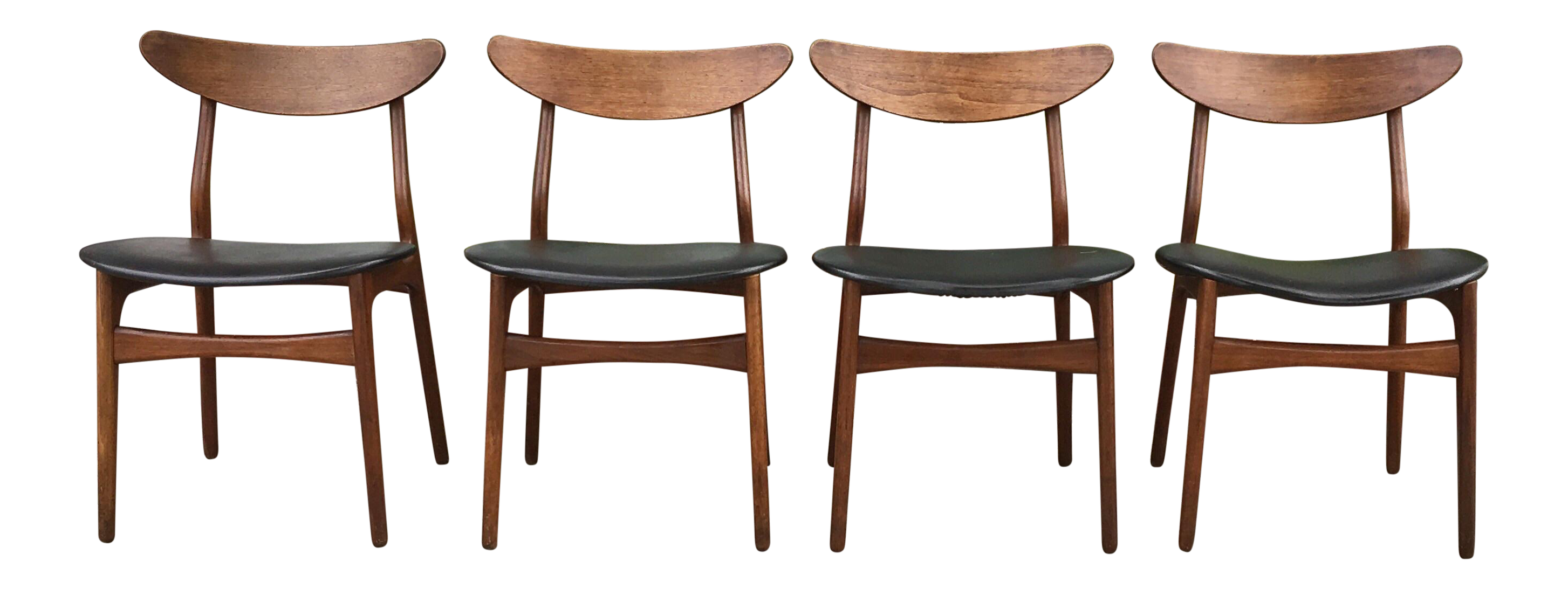 Vintage modern dining chairs set of 4 chairish for Modern dining chairs ireland