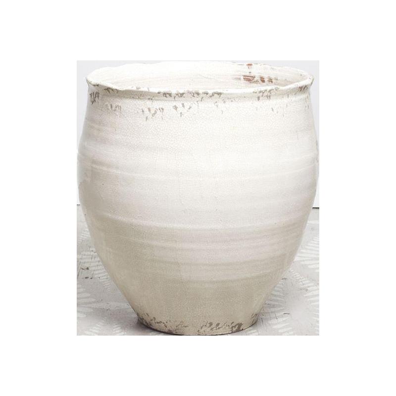 Large White Ceramic Pot Or Planter Chairish