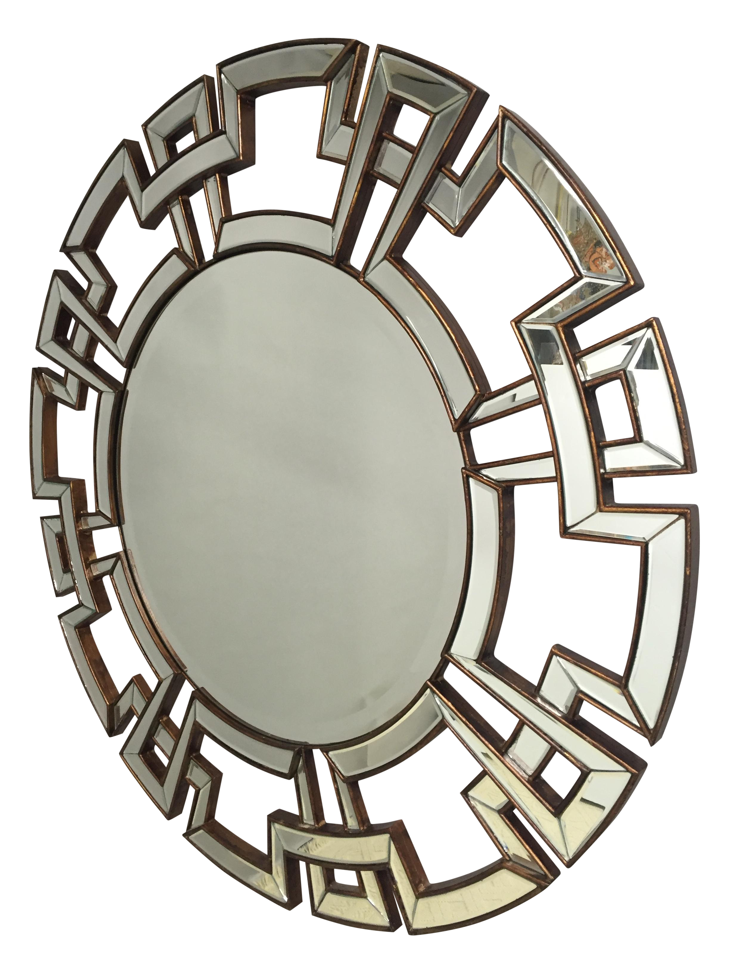 Round Greek Key Motif Mirror Chairish
