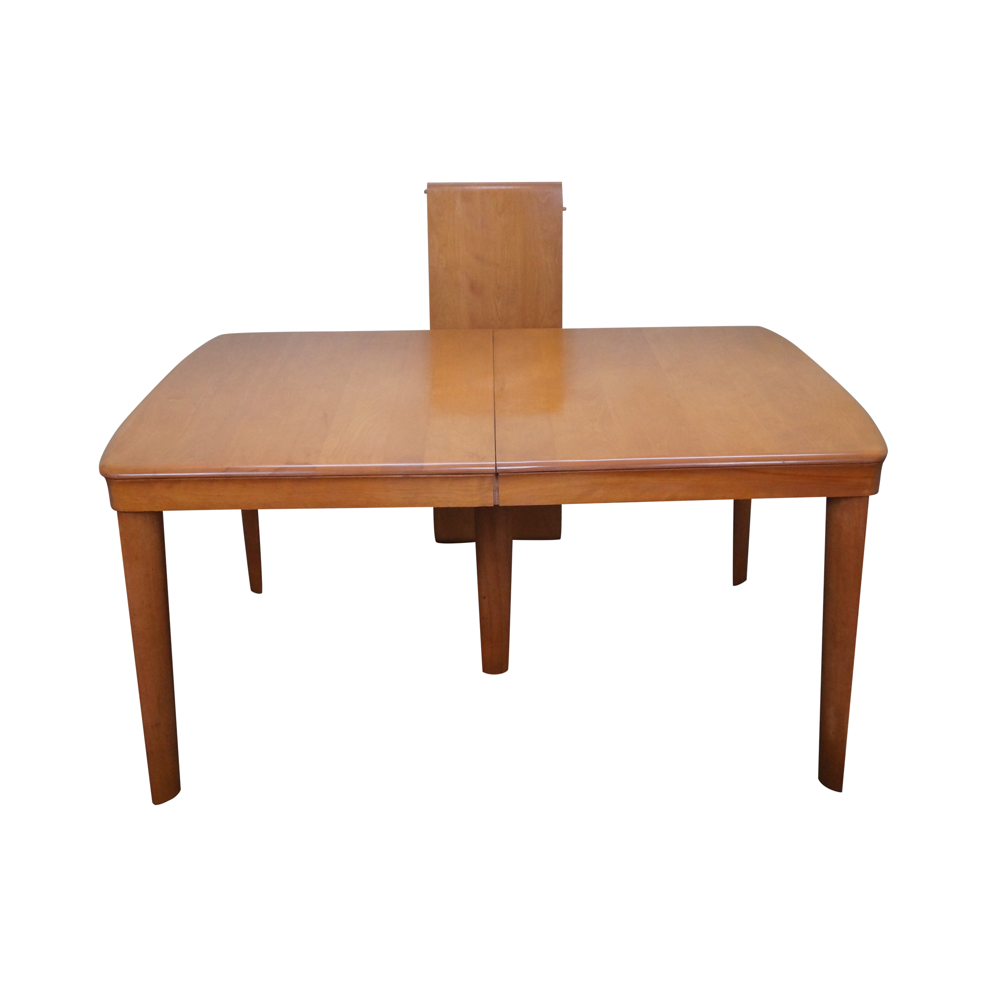 heywood wakefield champagne maple dining table | chairish