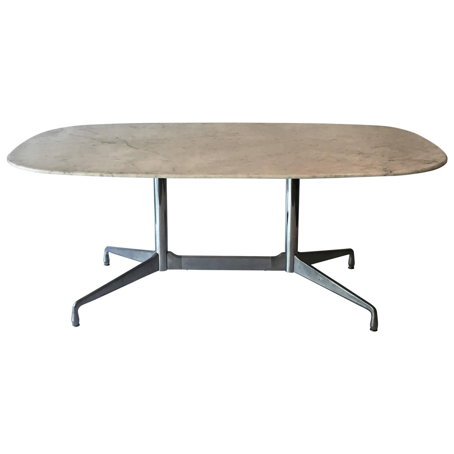 Eames Marble Coffee Table: Eames For Herman Miller White Marble Dining Table