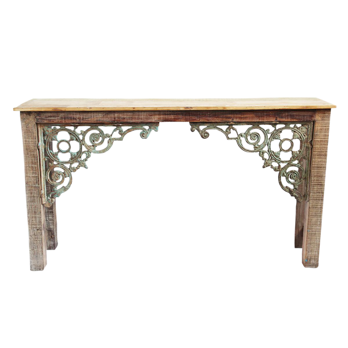 Reclaimed Wood Iron Console Table Chairish