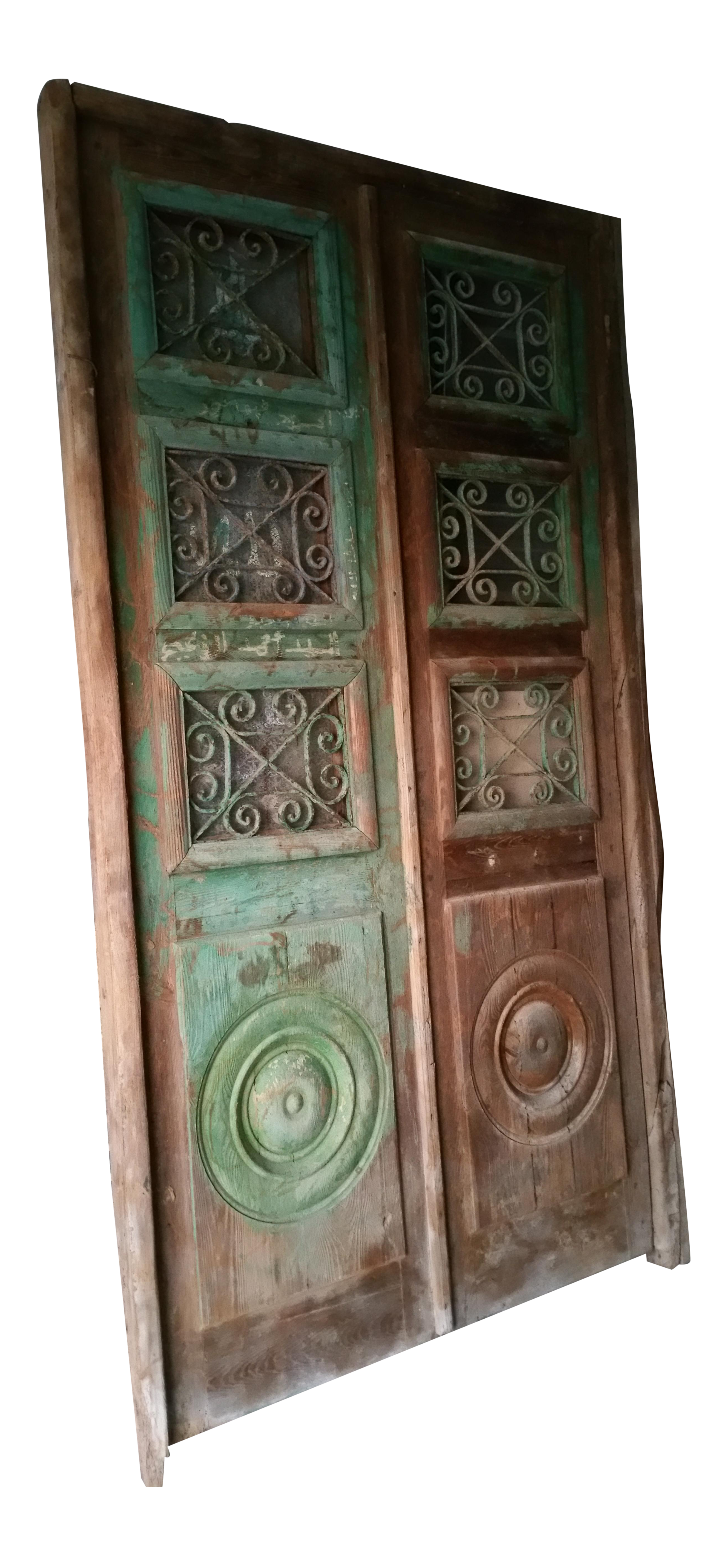 5634 #664937 Antique Mediterranean Double Entry Door Chairish picture/photo Mediterranean Entry Doors 44692612